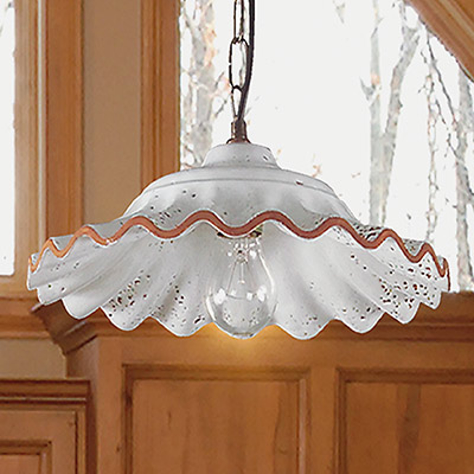 Závěsné světlo Tarlo, keramické stínidlo