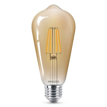 Philips E27 ST64 LED-lampa Curved 4W 2 500 K guld