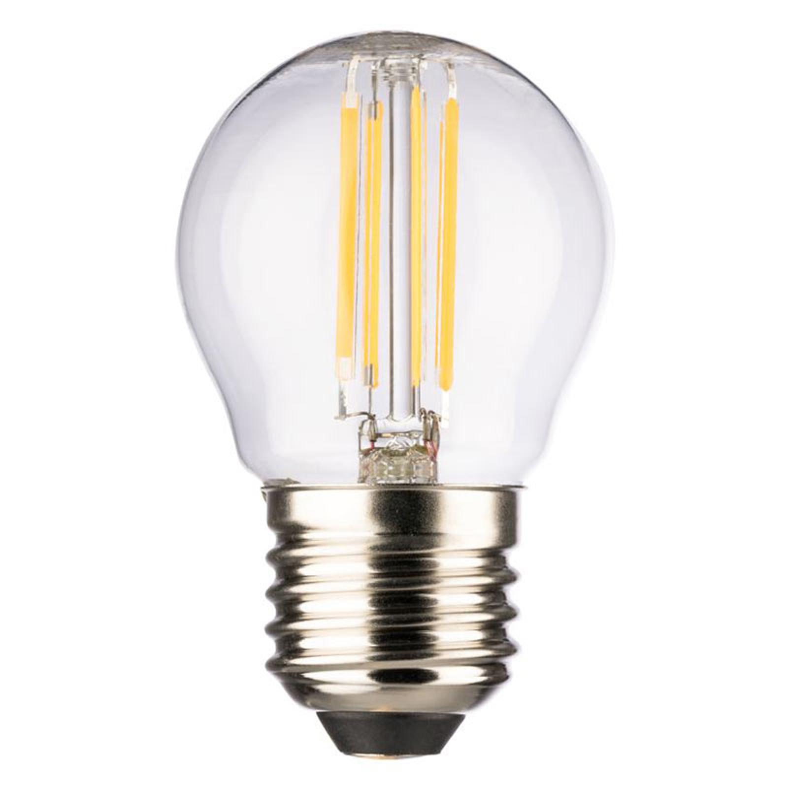 LED-Mini Globe E27 4 W blanc chaud 470 lumens