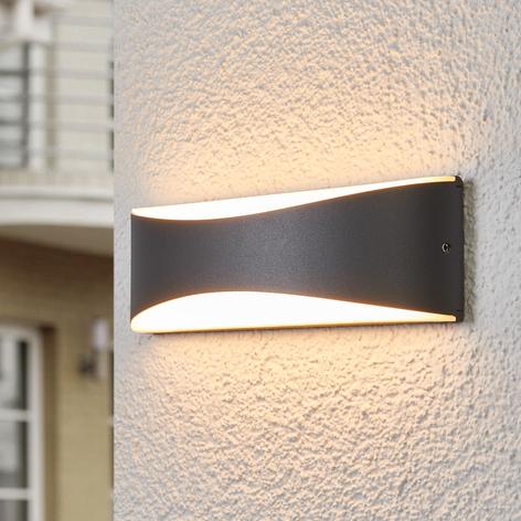 Antracitfärgad LED-utomhusvägglampa Akira