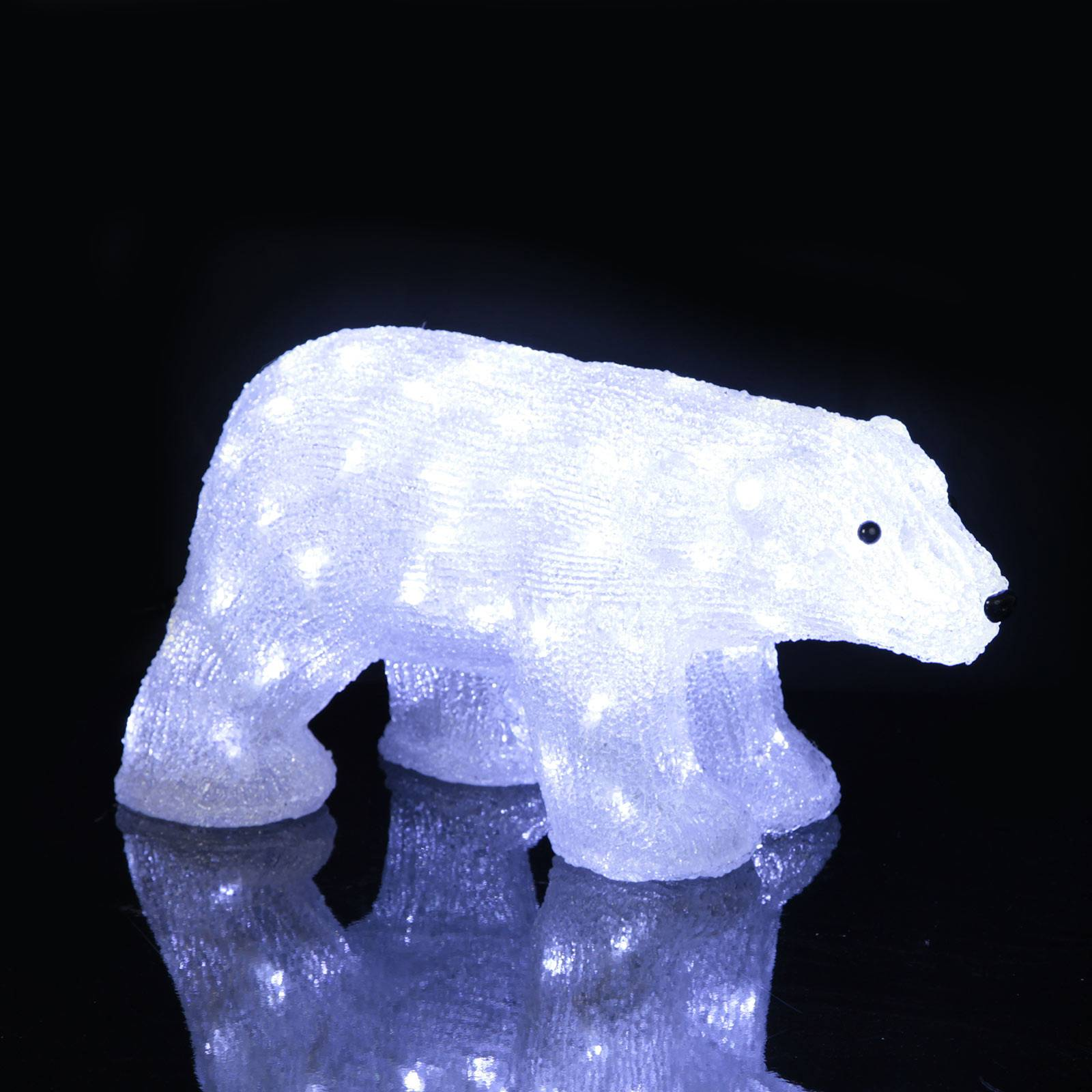 "*Merry X-Mas*: LED-Leuchtfigur ""Eisbär"" aus Acryl, klein (Kopie) Lampenwelt"