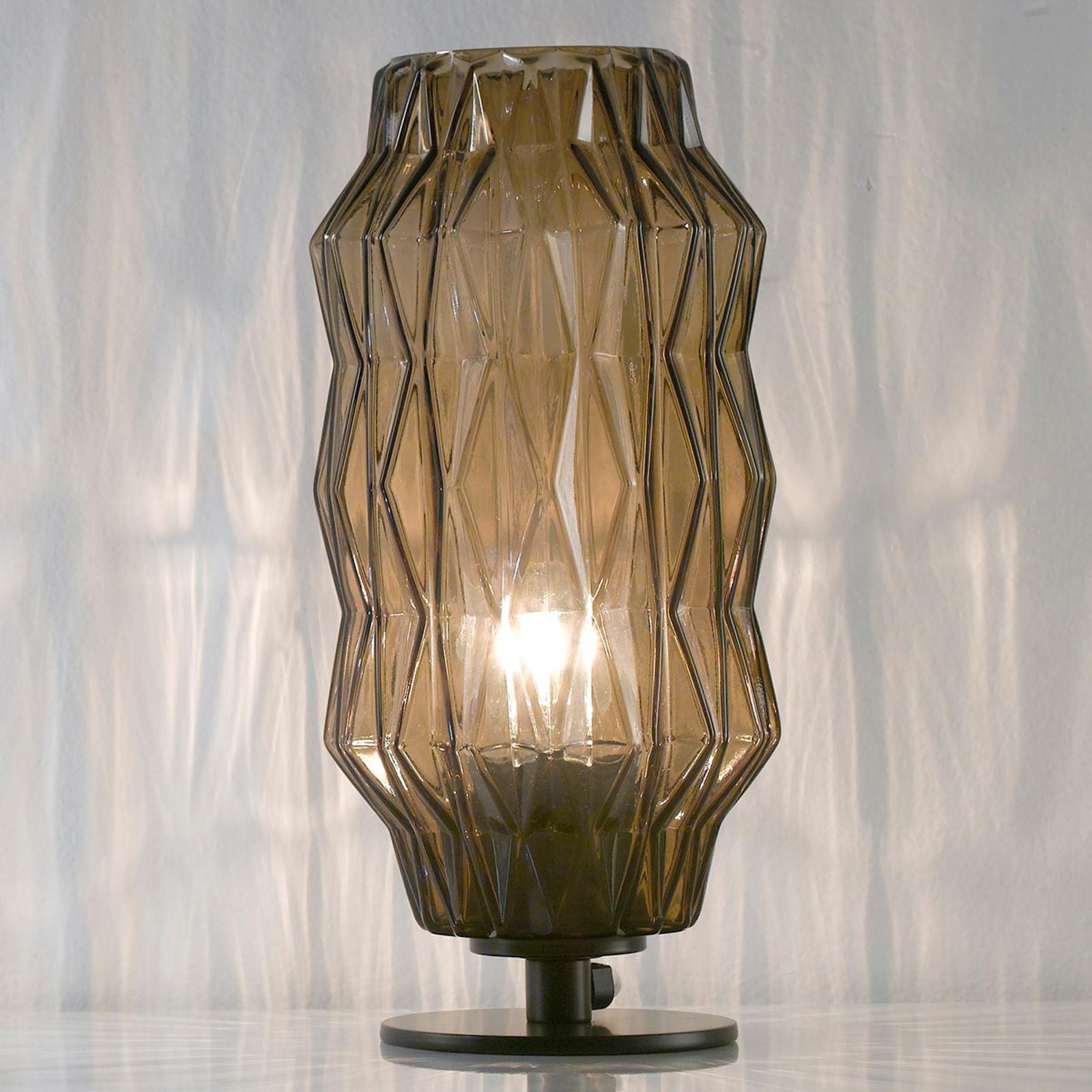Tafellamp origami, grijs-bruin