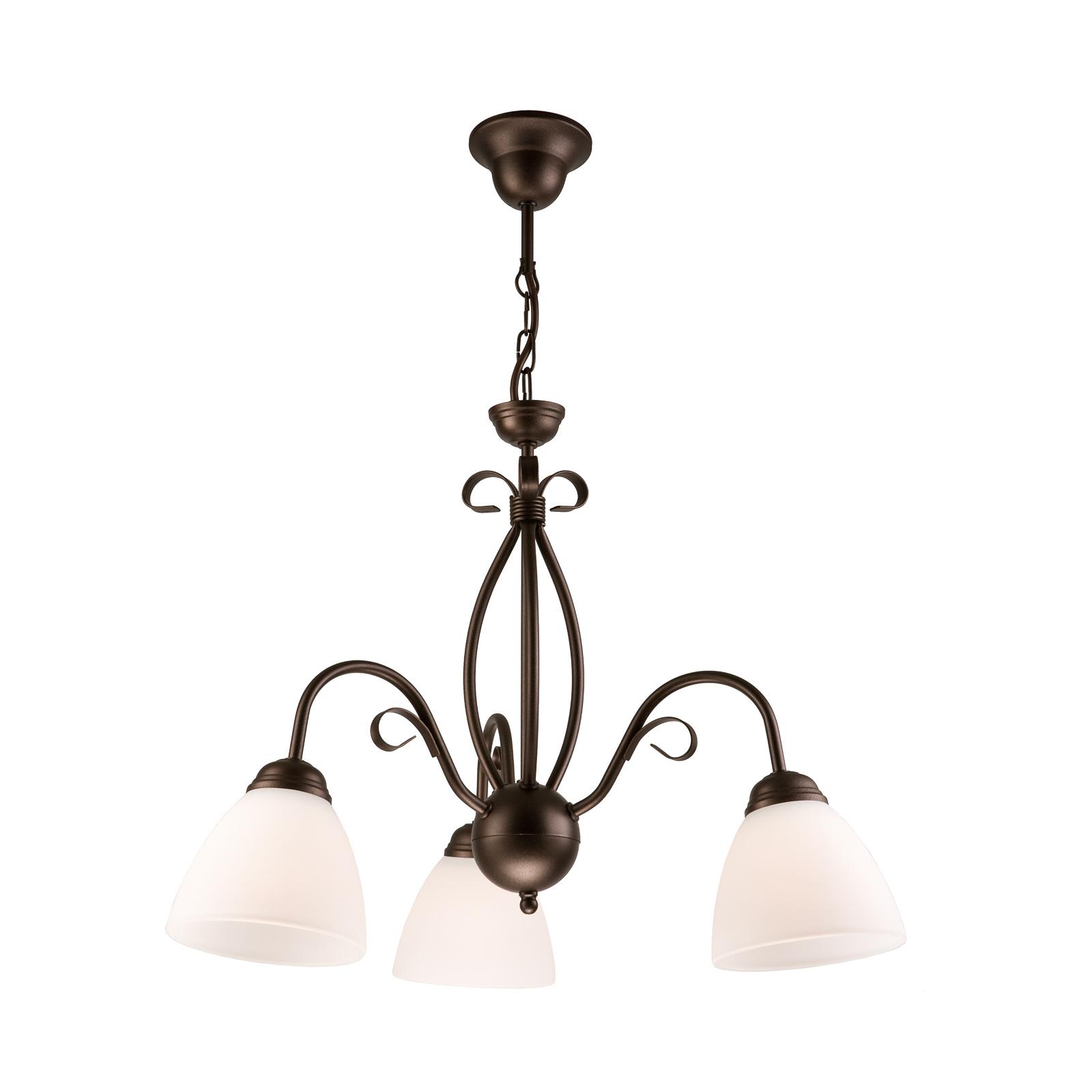 Adoro hængelampe, 3 lyskilder, brun