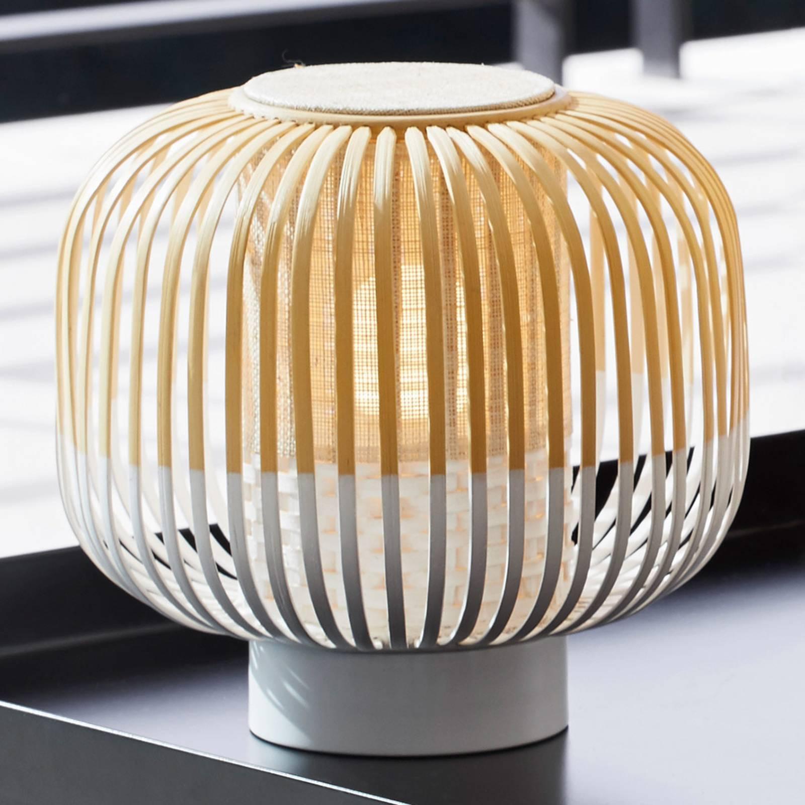 Forestier Bamboo Light S tafellamp 24 cm wit