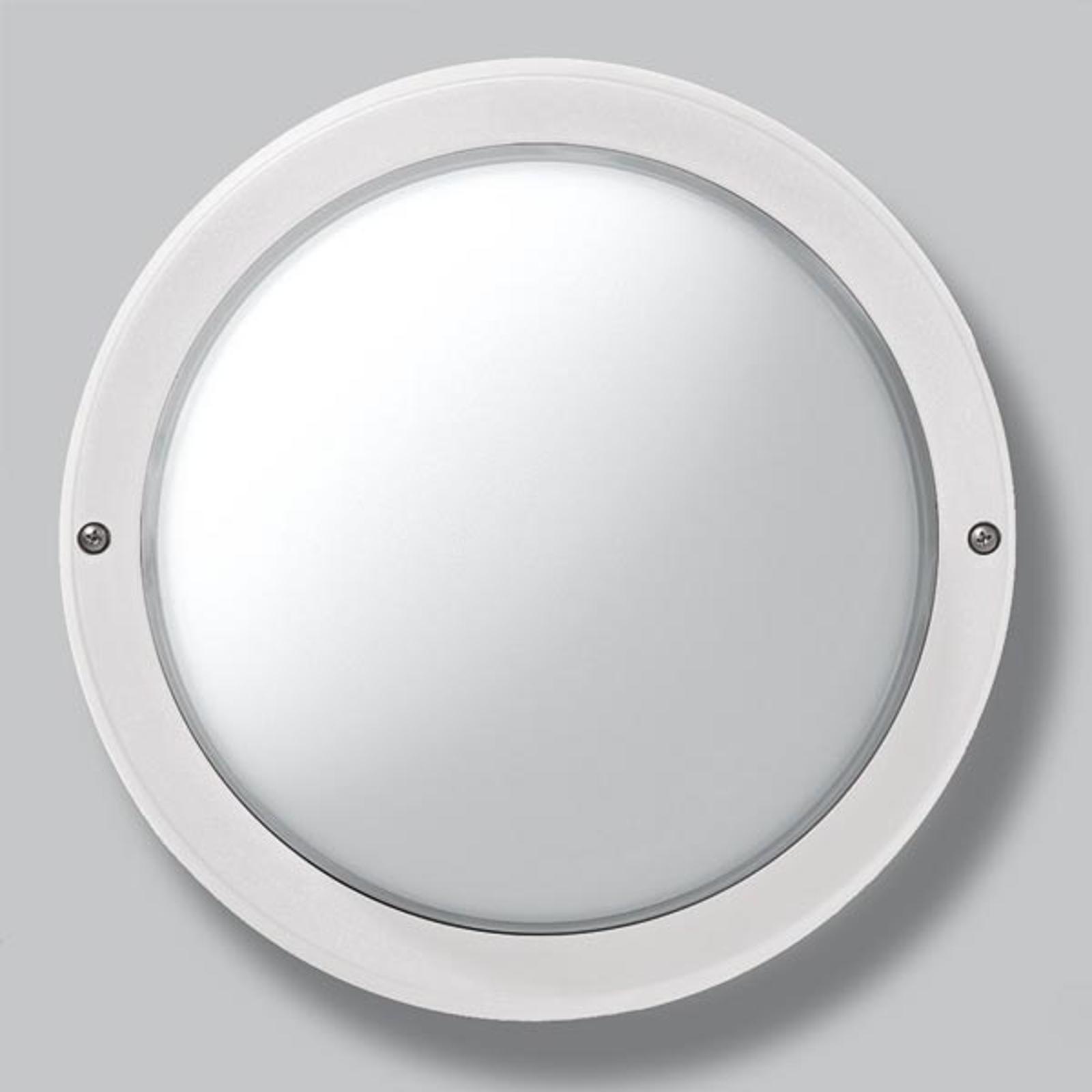EKO 26 utendørs vegg- eller taklampe i hvit
