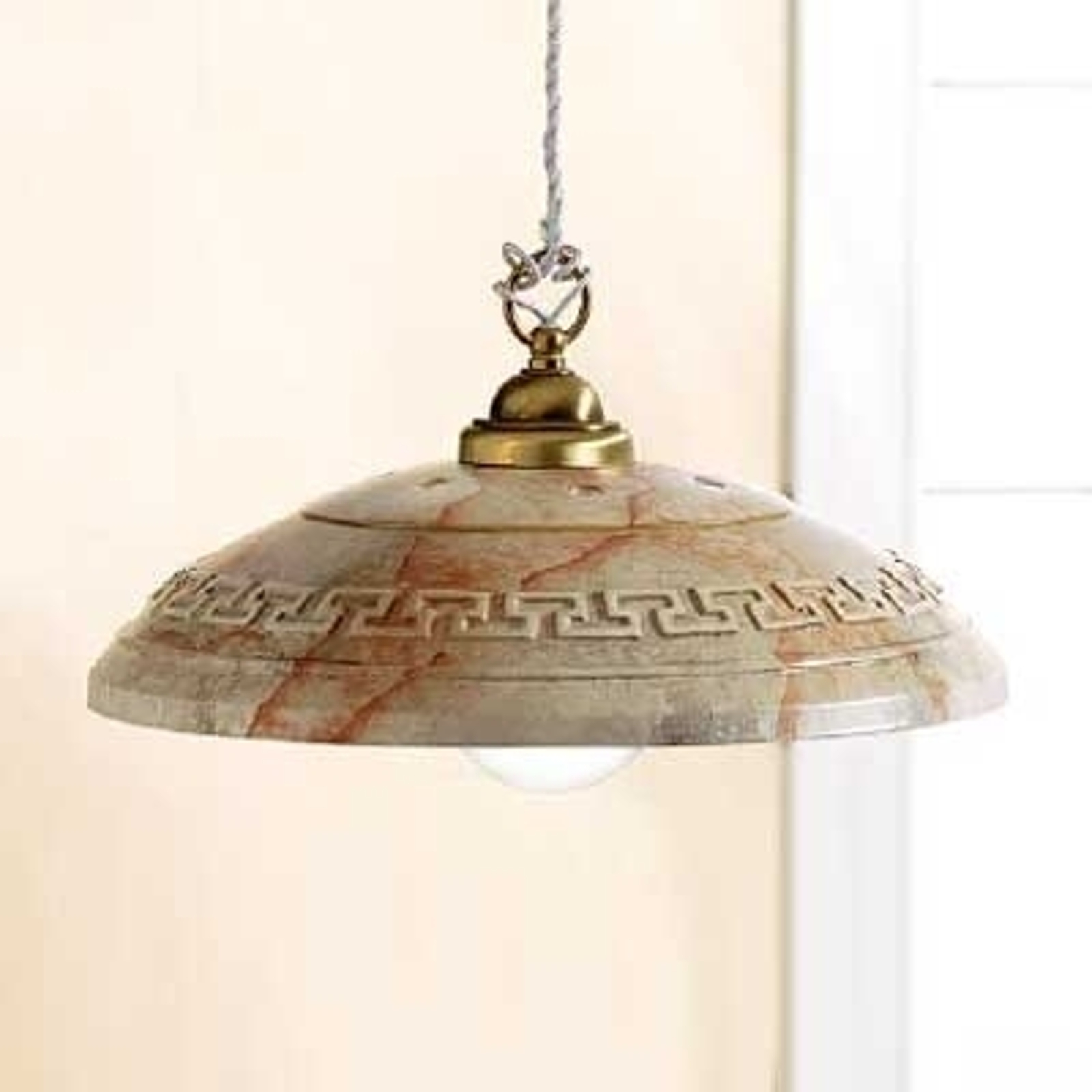 Indrukwekkende hanglamp GRECA MARMO