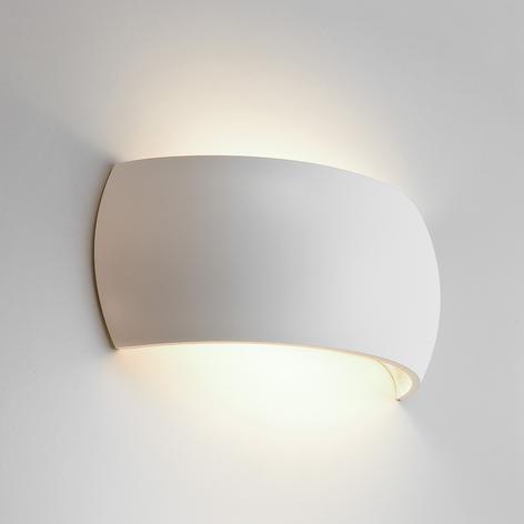 Individuelt designbar gips væglampe Milo