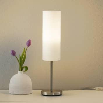 Encantadora lámpara de sobremesa TROY en blanco