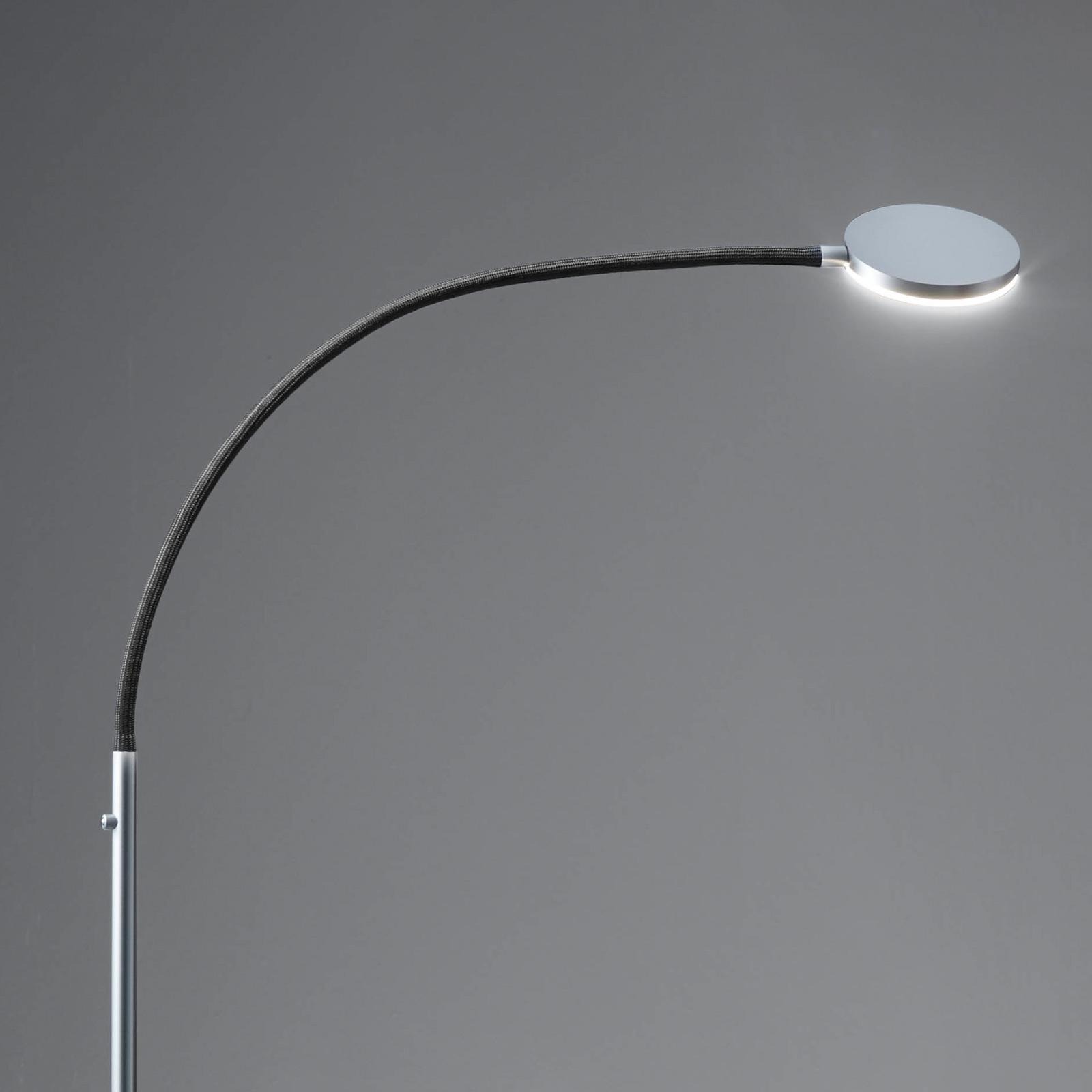 Holtkötter Flex S lampadaire LED alu mat/noir