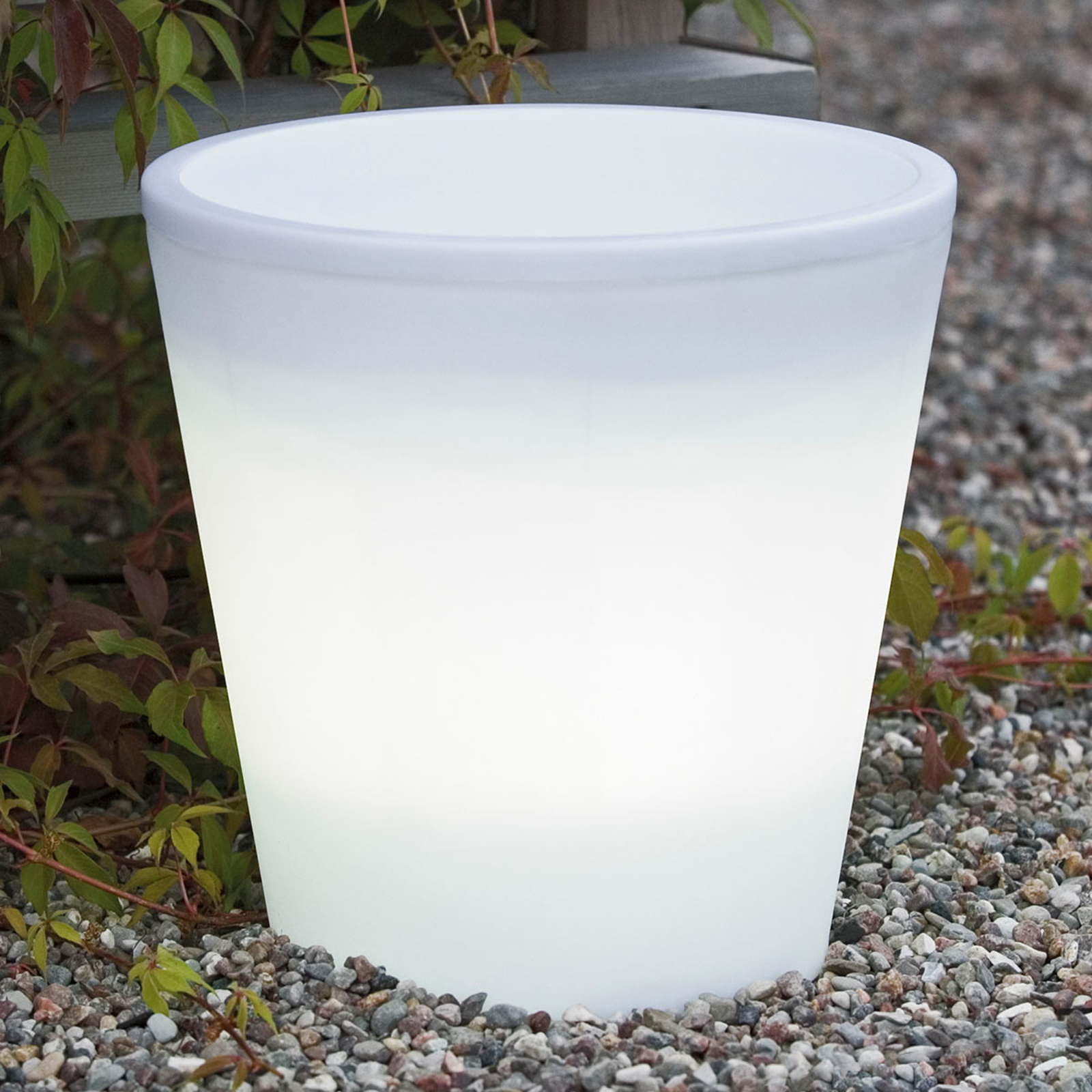 LED bloempot Assisi verlicht Ø 28 cm