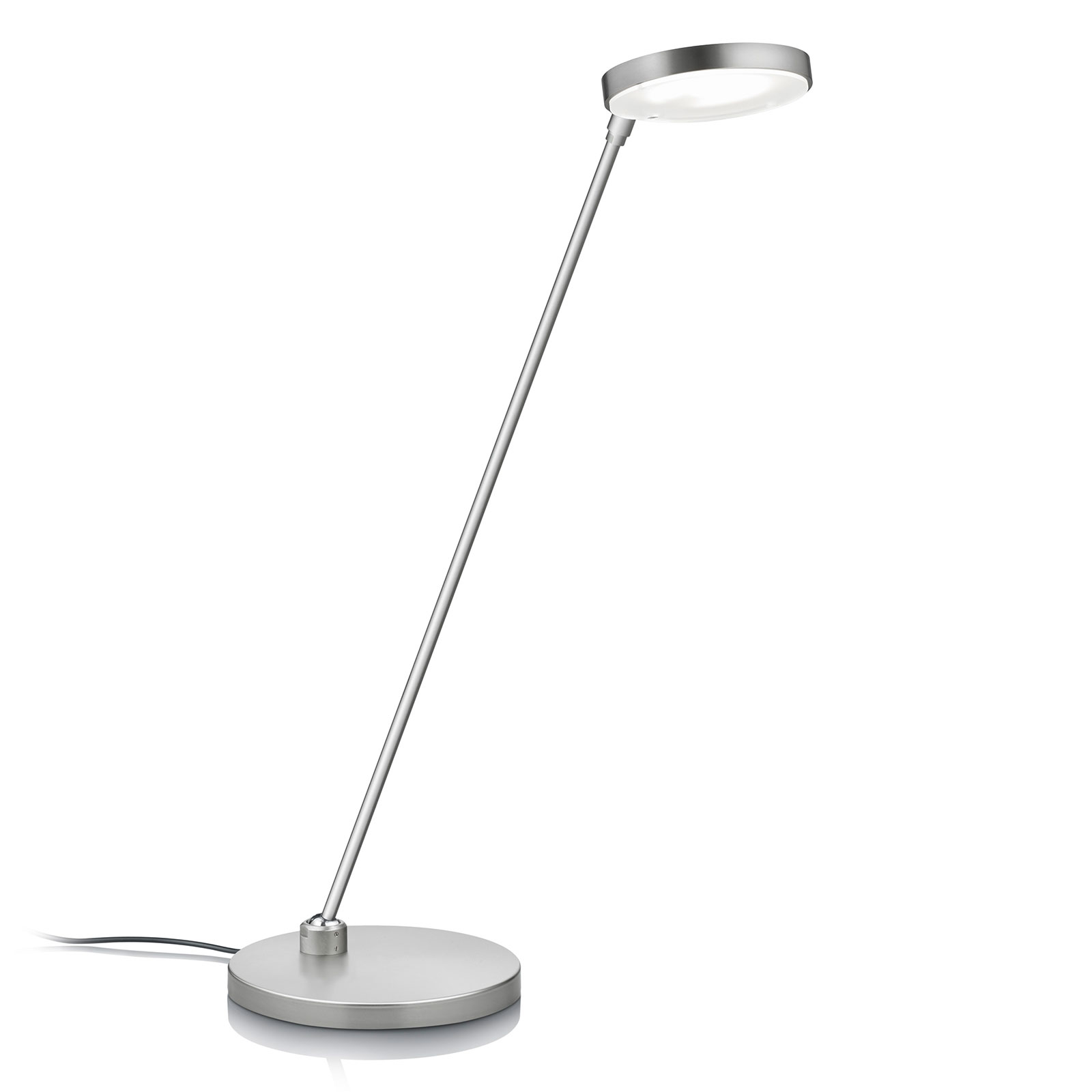 Lampe à poser LED Thea-T, nickel mat