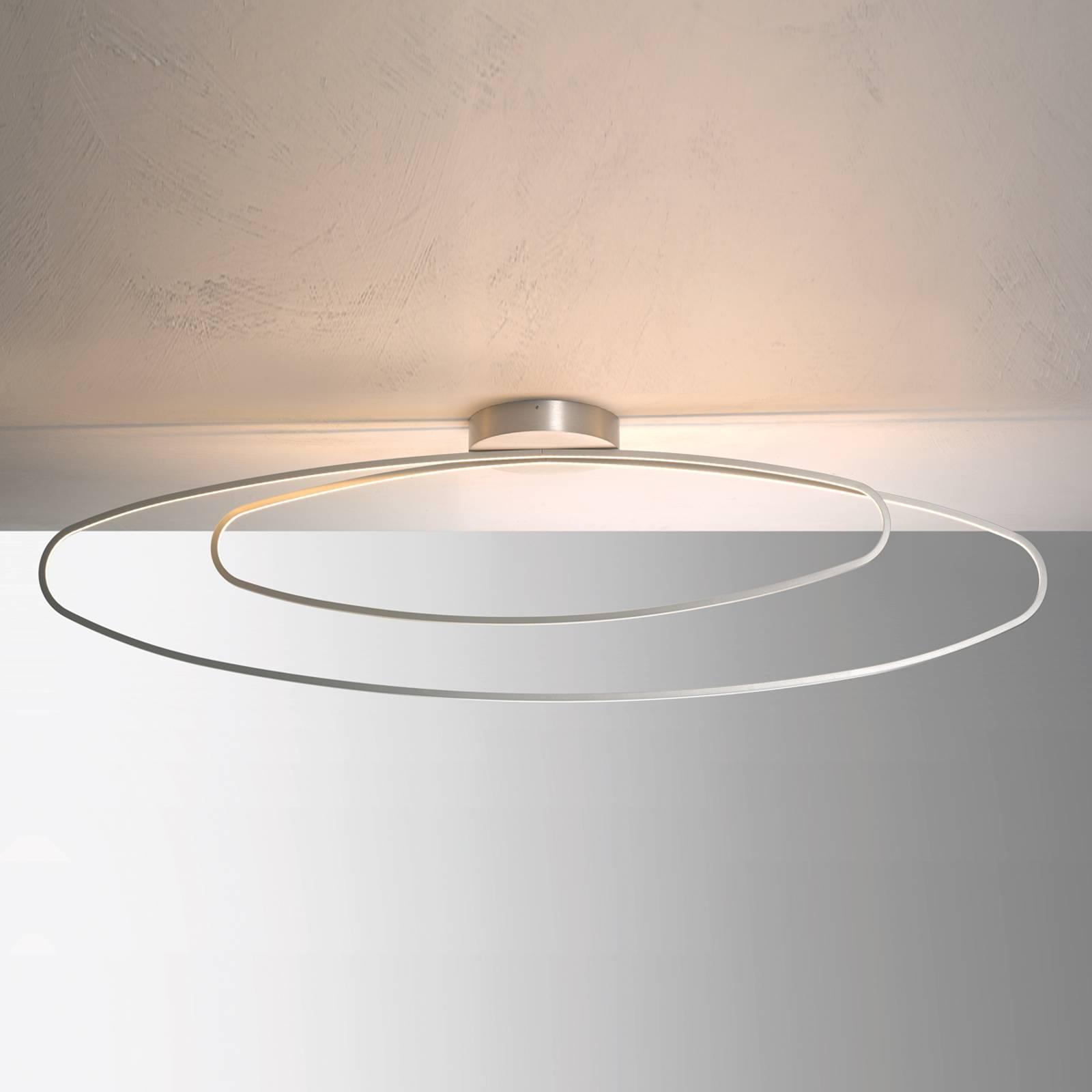 Draadwerk LED plafondlamp Flair, aluminium