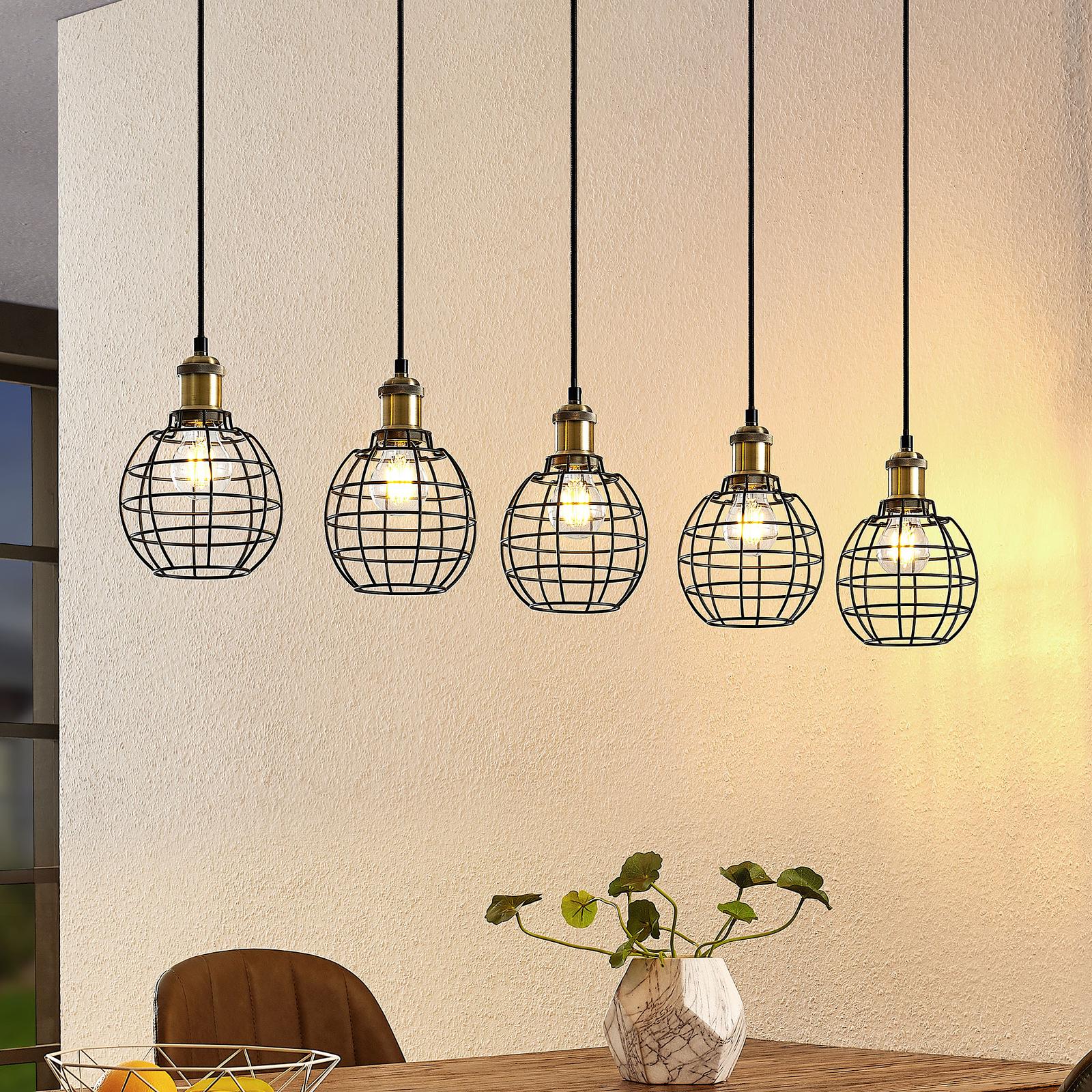 Lindby Alexej hængelampe med bur-look