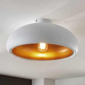 Kovové stropní světlo Gerwina, bílo-zlaté