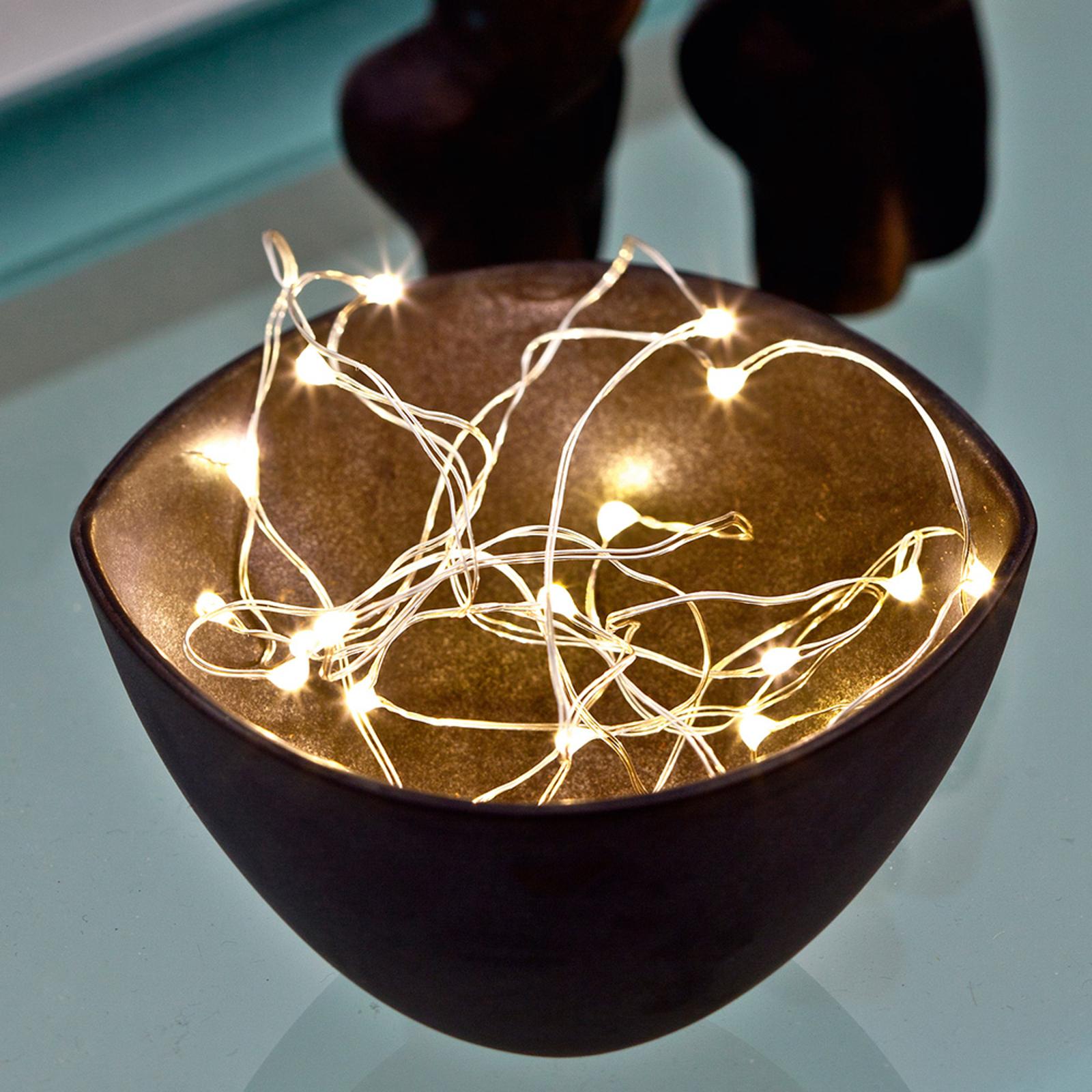 Glittrande LED-ljusslinga Knirke, 20 ljus