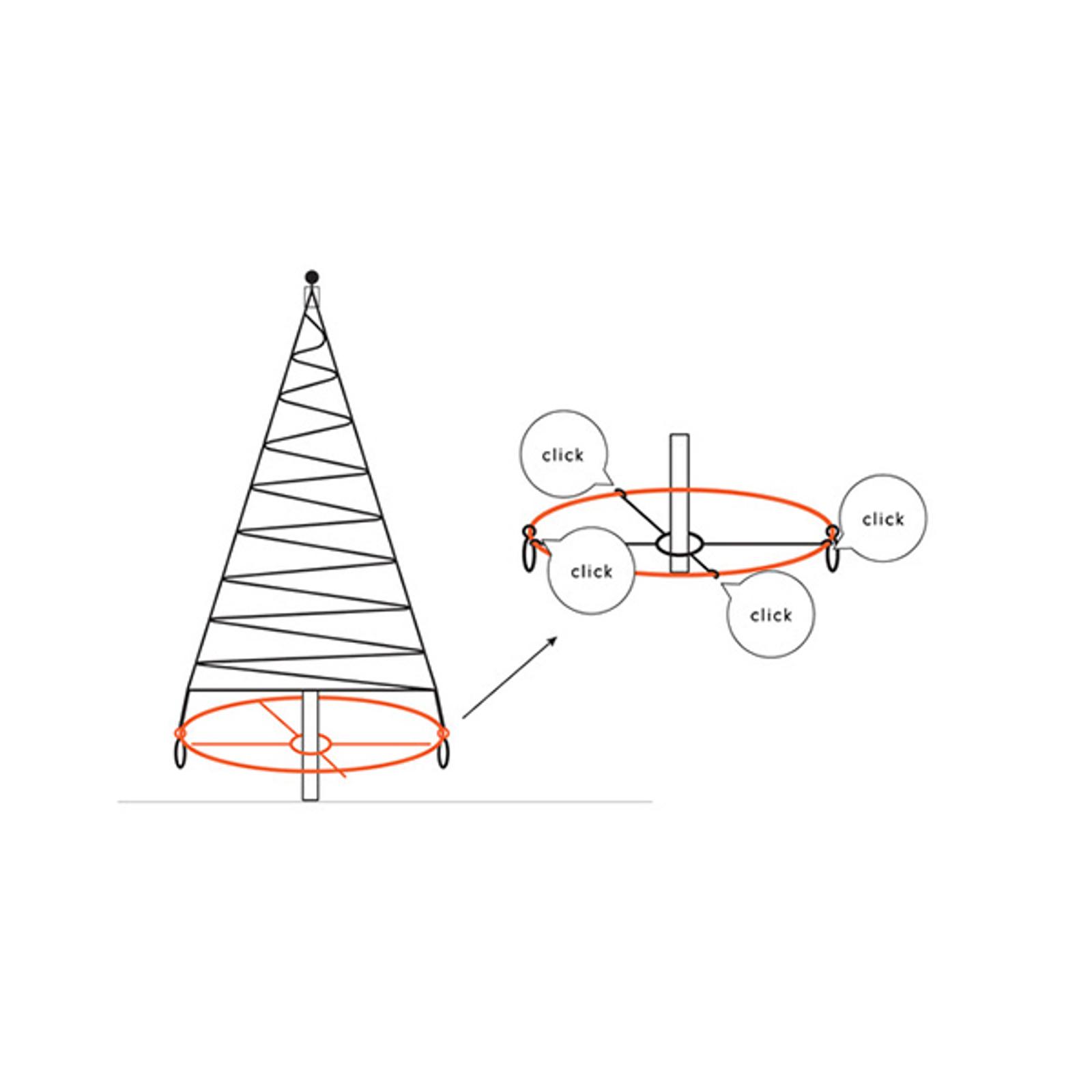 Fairybell® Bodenkreuz für Baum 6/8/10m