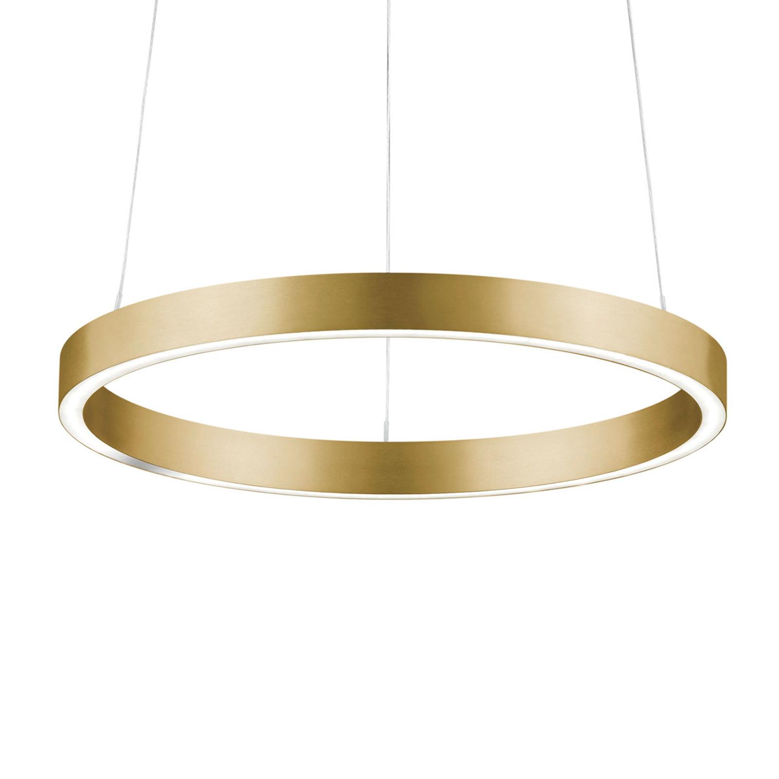Lampa wisząca LED Svea-40 czujnik gestów, złota
