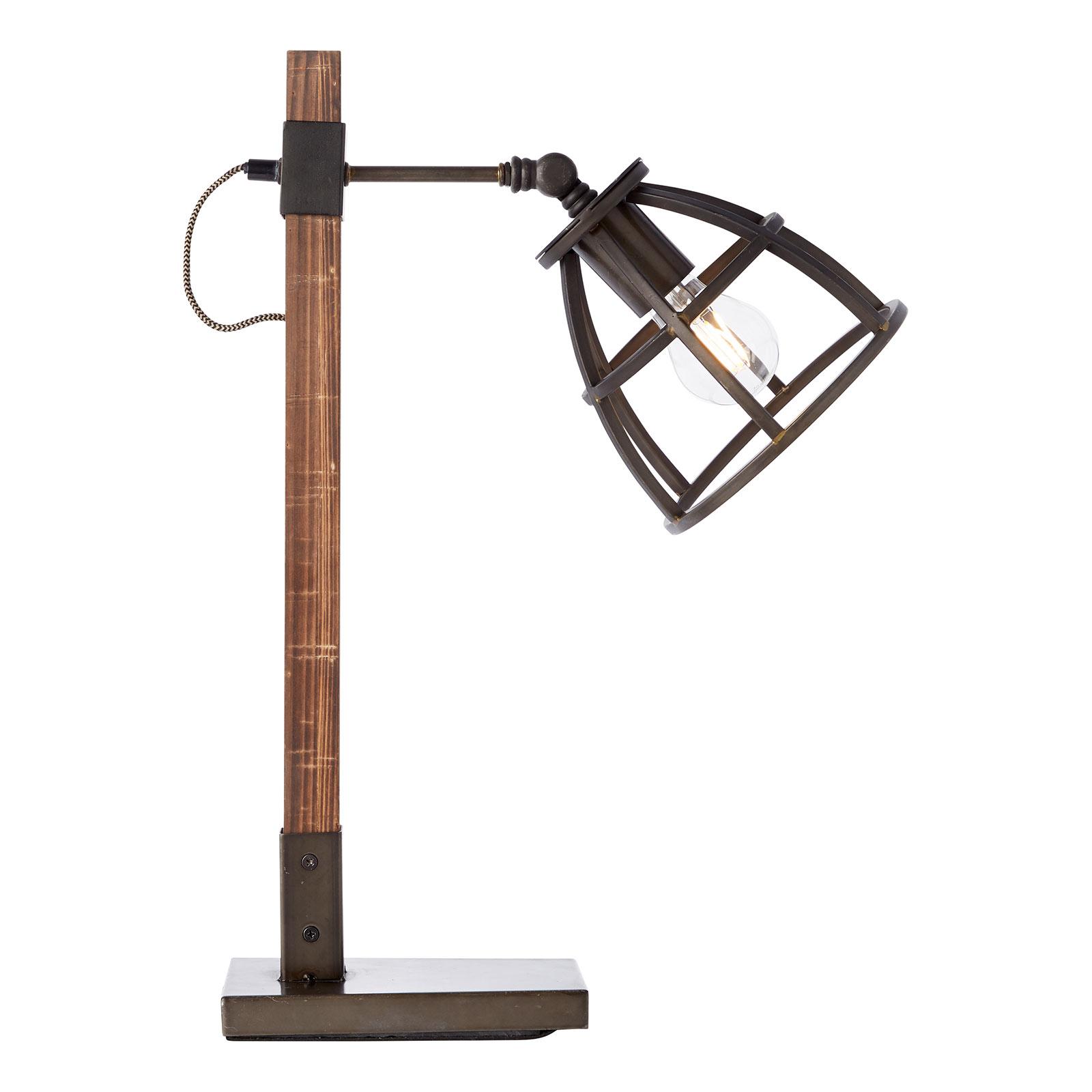 Lampe à poser Matrix avec abat-jour cage