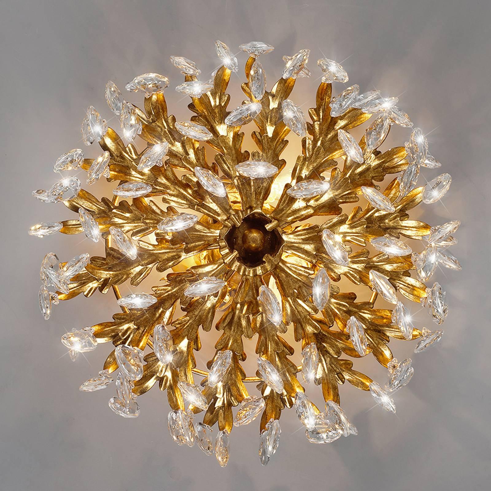 Wytworna lampa sufitowa GUEL z kryształkami