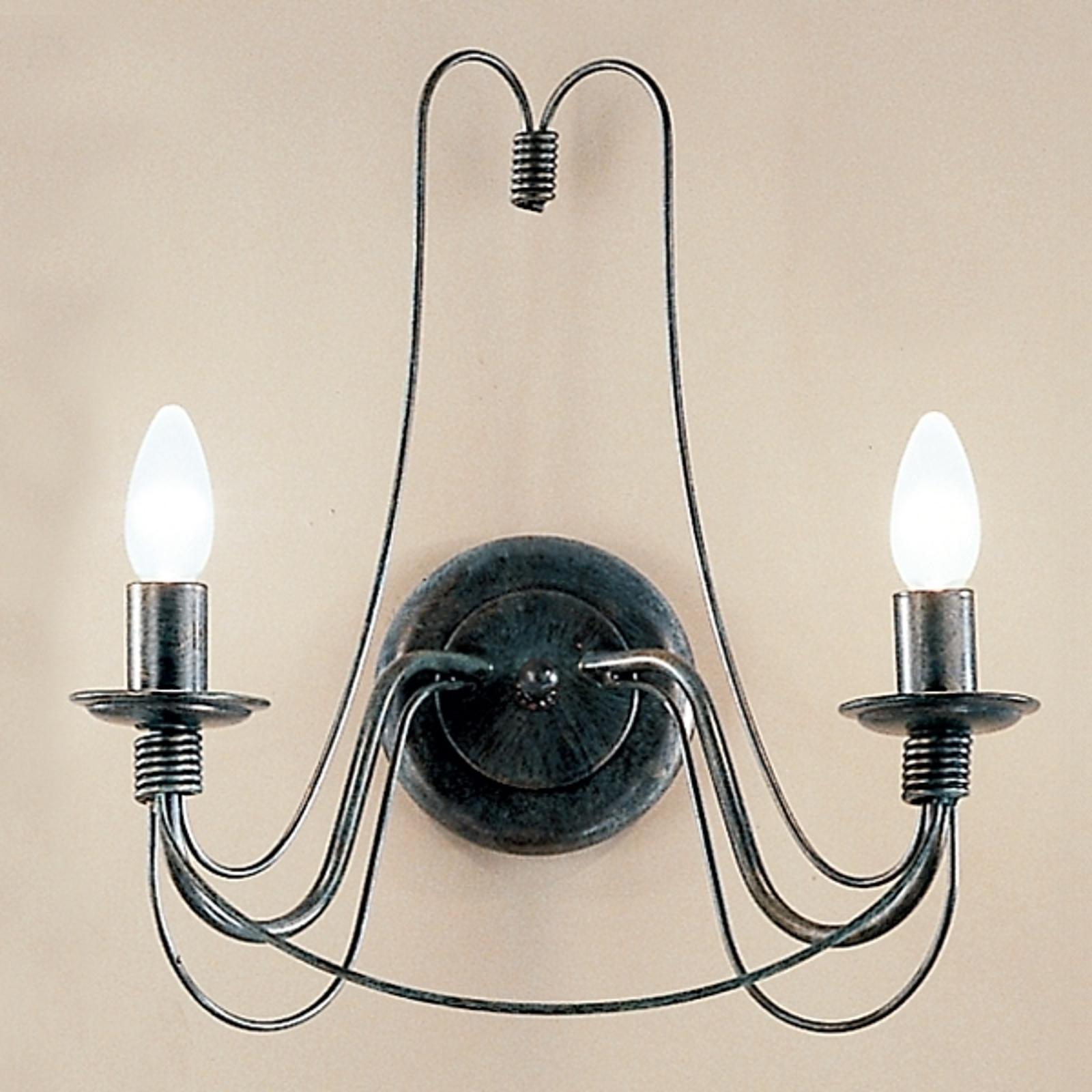 CLARA væglampe i herregårdsstil med to lys
