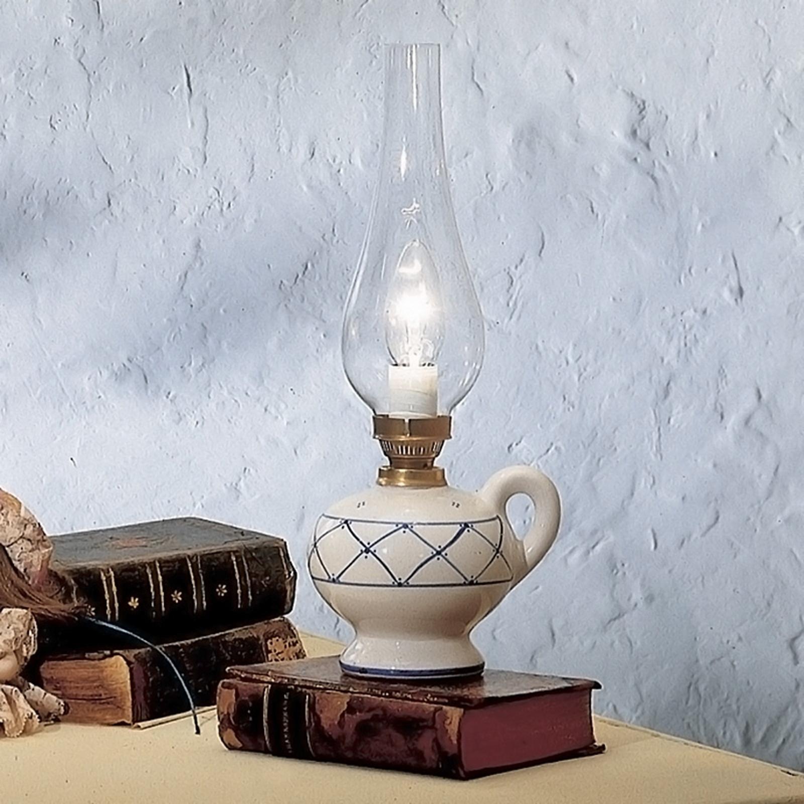Stolní lampa Rustico ve venkovském stylu