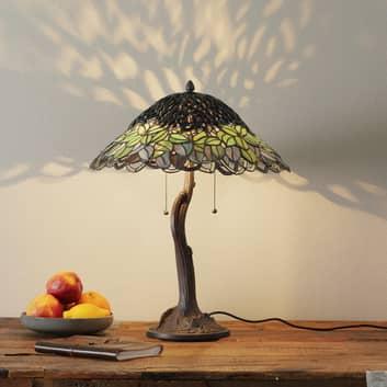 Ovanlig bordslampa Jamaica, Tiffanystil