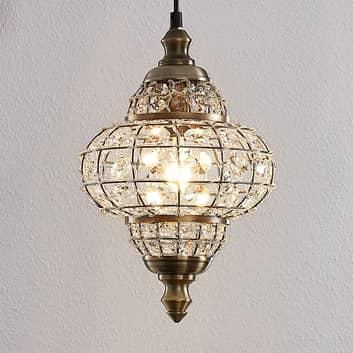 Lindby Aziz hængelampe i glas i orientalsk design