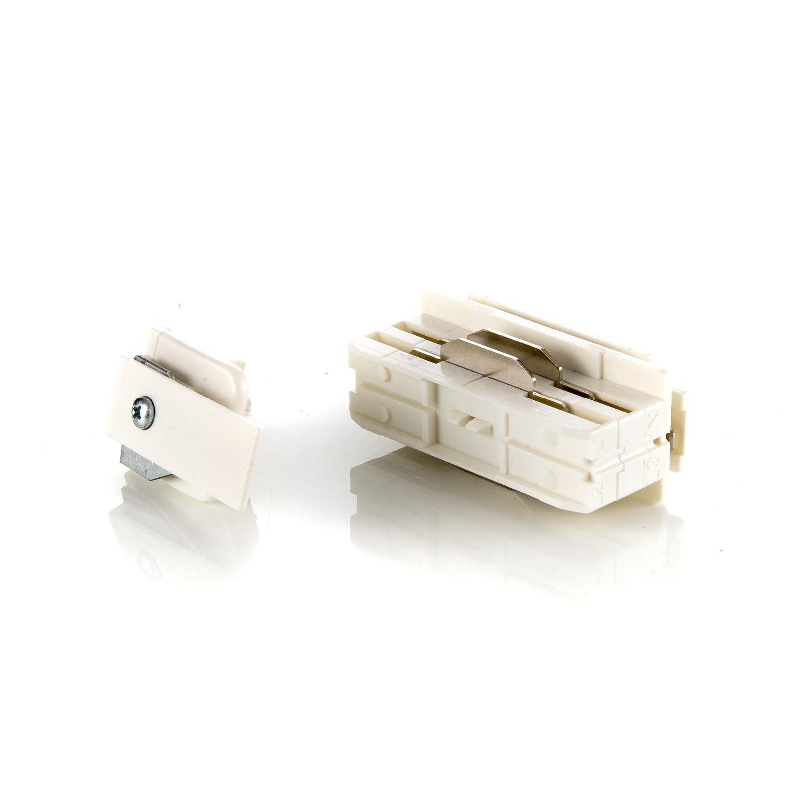 Eutrac Kontaktblock für Einbauschiene, weiß
