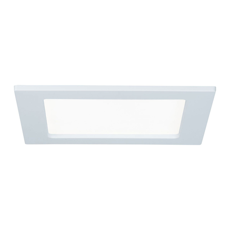 Paulmann LED-Panel, eckig, 12W, 4.000 K, weiß