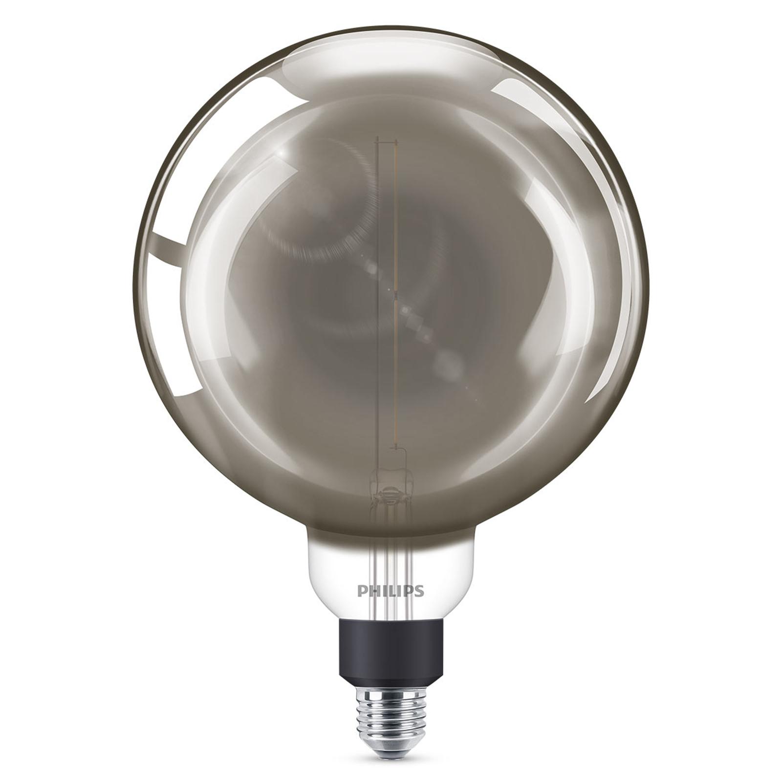 Philips E27 Giant LED-globepære 6,5W dimbar smoky