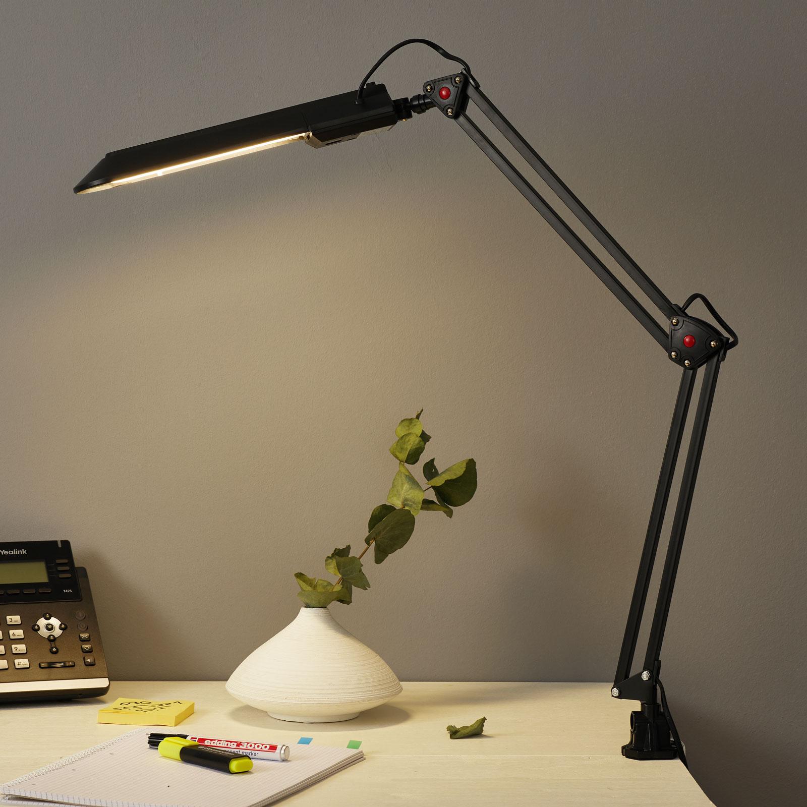 Stolní pracovní lampa PRACY, černá