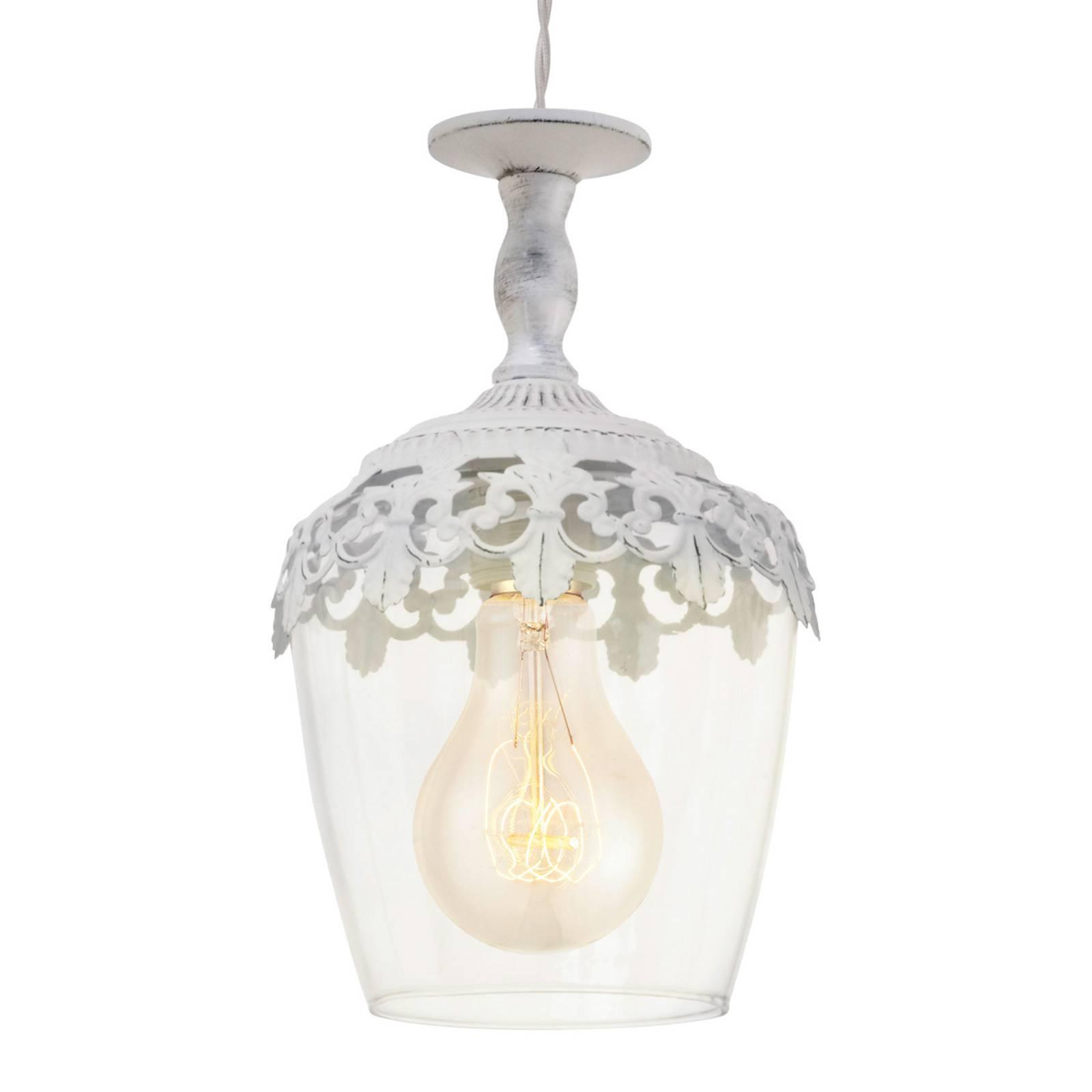 Florinia - wit gepatineerde hanglamp