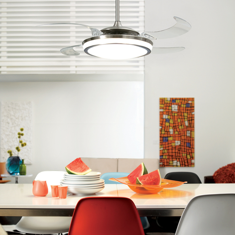 Valaistu Fanaway Evo 1 -kattotuuletin LED