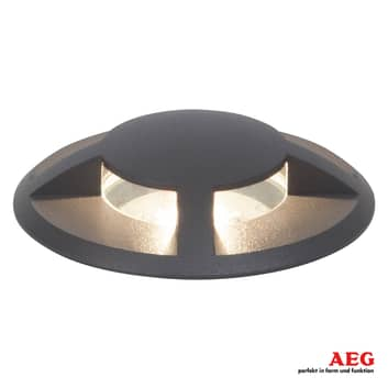 AEG Tritax foco de suelo LED empotrado, 4 salidas