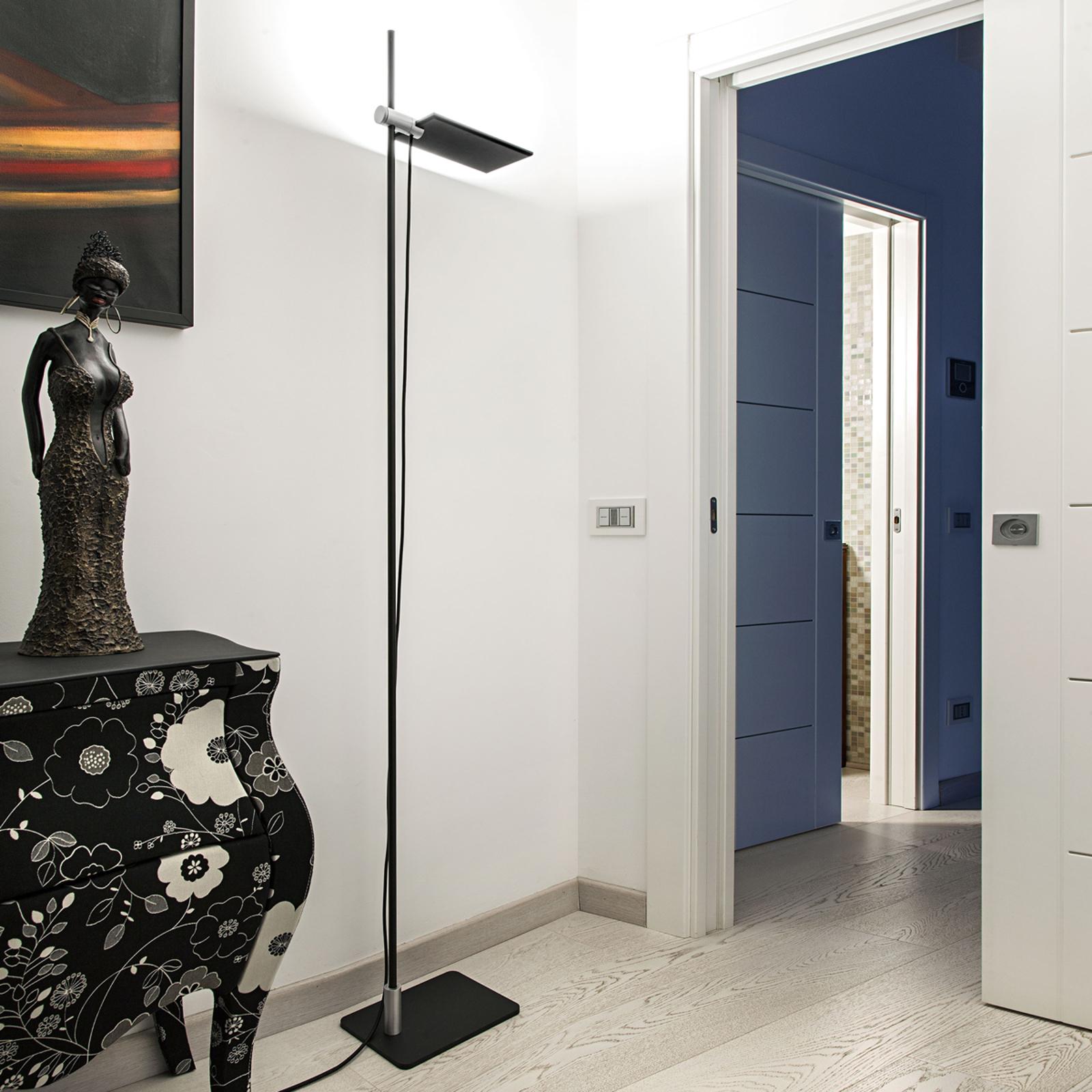 ICONE GiuUp LED-uplight lampe, kan dæmpes, sort