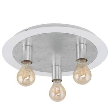 Lampa sufitowa Passano 3-punktowa srebrna