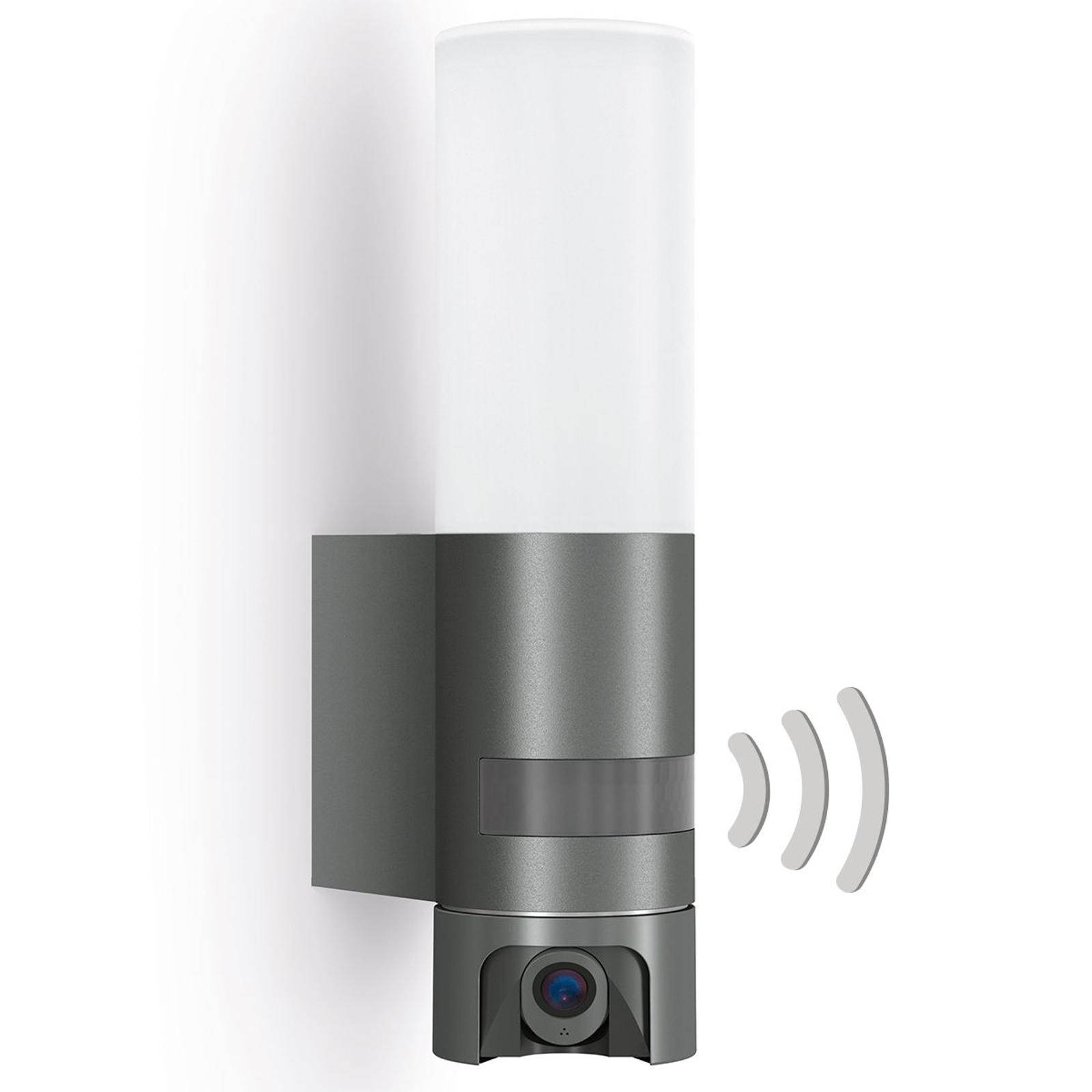 Sensor LED buiten wandlamp L 620 Cam, antraciet