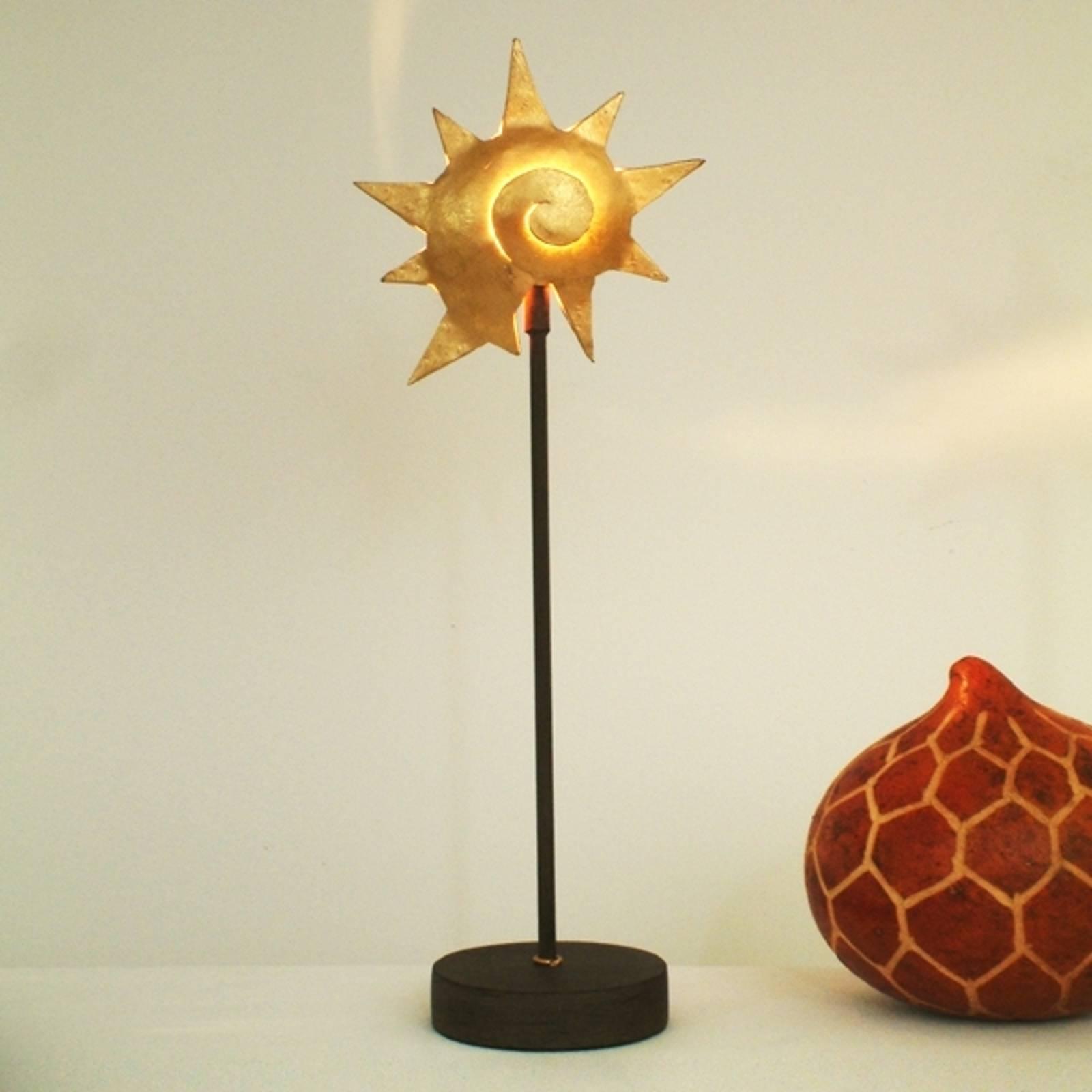 Tischleuchte Sternschnecke Gold - Eisen