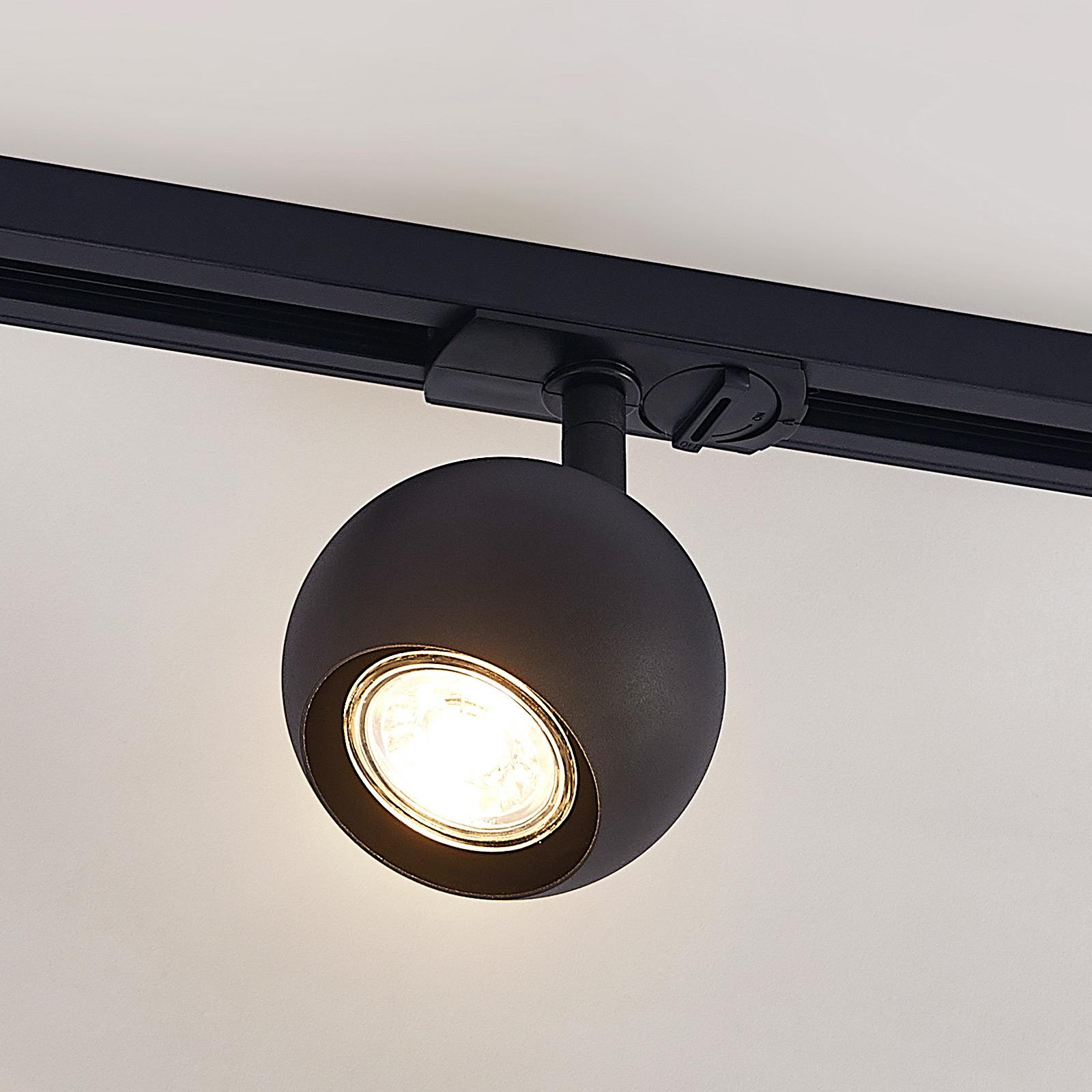 Lindby Guus LED-Strahler, 1-Phasen-Schiene schwarz