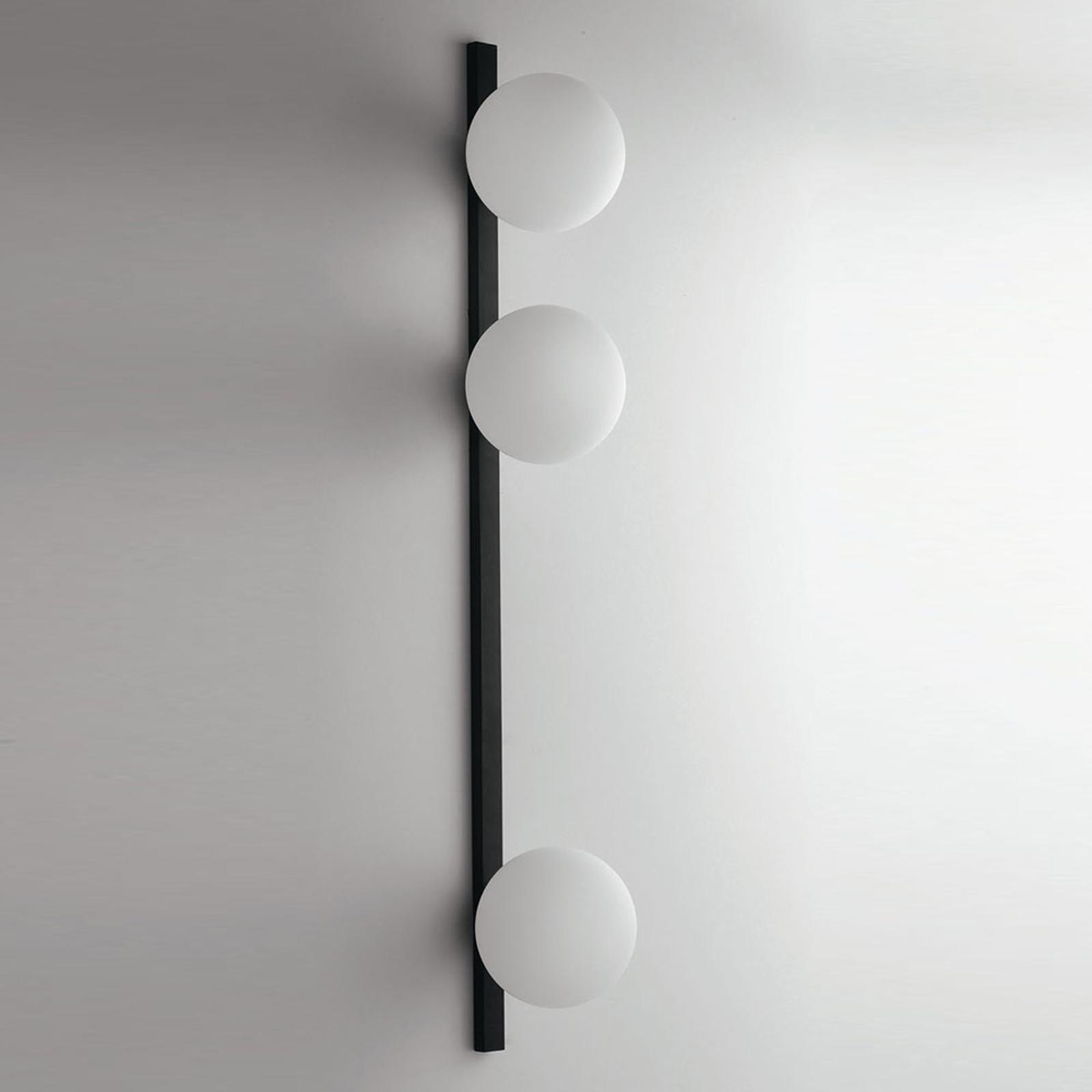 Nástěnné světlo Enoire v černobílé, 3 zdroje
