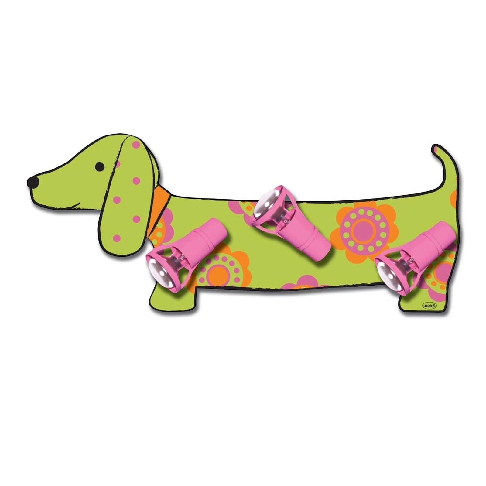 Applique Dog en forme de teckel