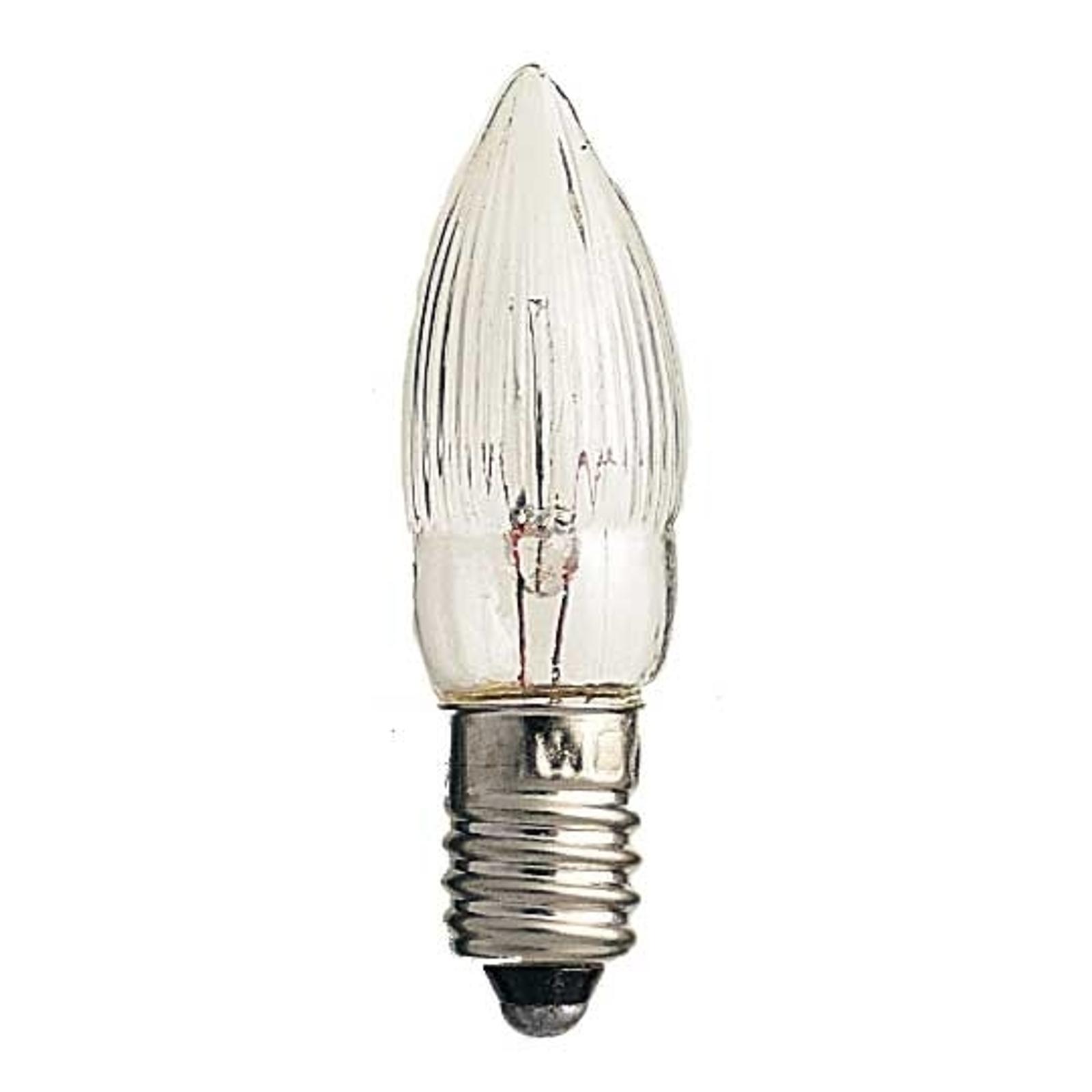 E10 2,5W 7V Ersatzlampen 3er Pack Kerzenform