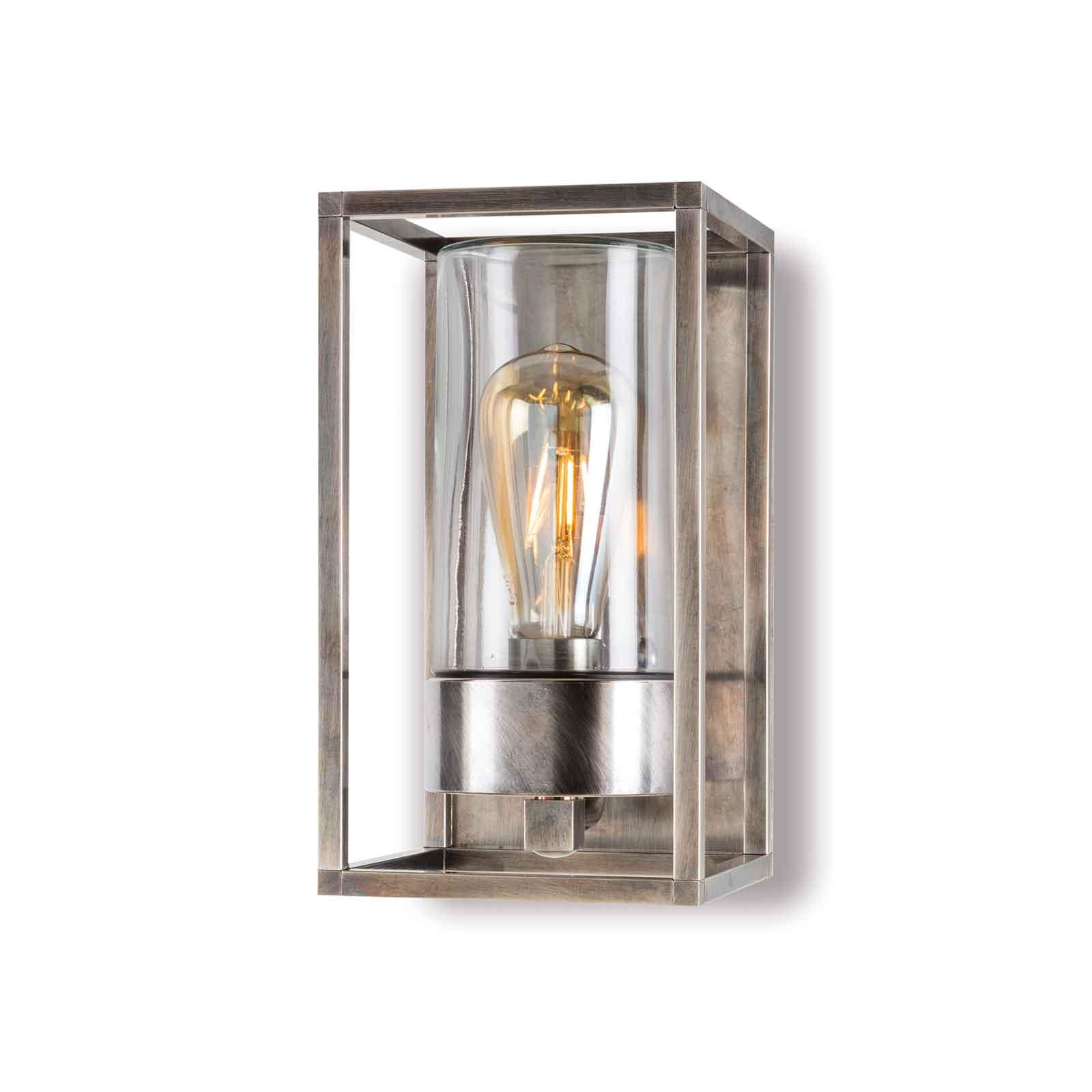 Buitenwandlamp Cubic³ 3365, nikkel antiek/helder