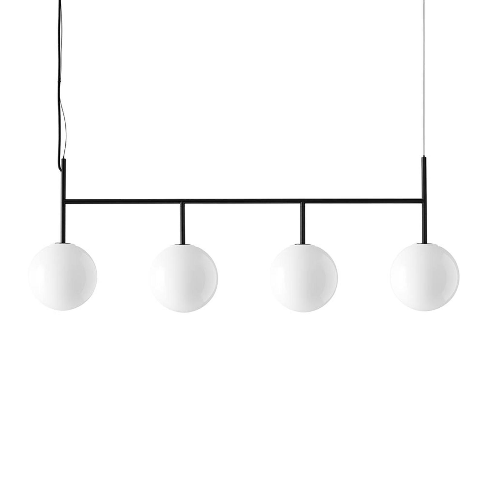 Menu TR Bulb LED-Pendel 4fl schwarz/opal glanz