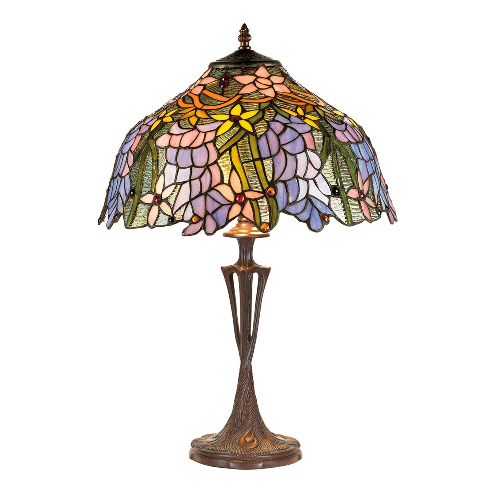 Tafellamp KT1082+PBLM11 in Tiffany stijl