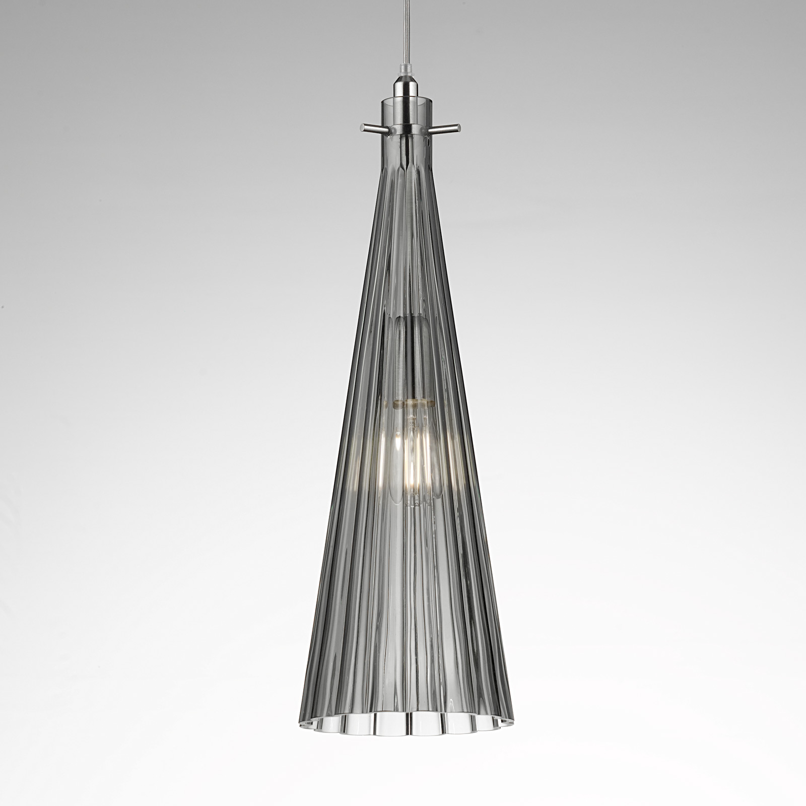 Lampa wisząca Costa Rica ze szkła, szara