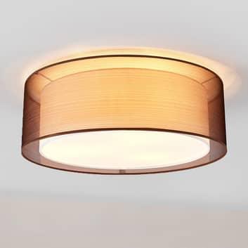 Tekstil loftslampen Nica i brun