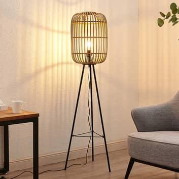 Lindby Canyana standerlampe af rattan, natur