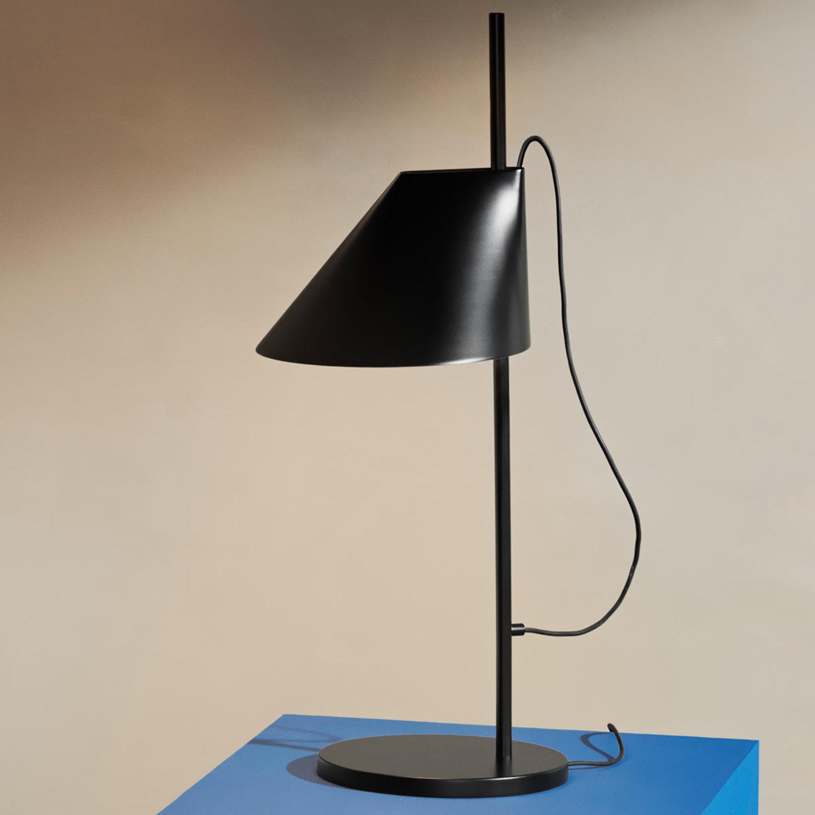 Dimbare LED tafellamp Yuh in zwart