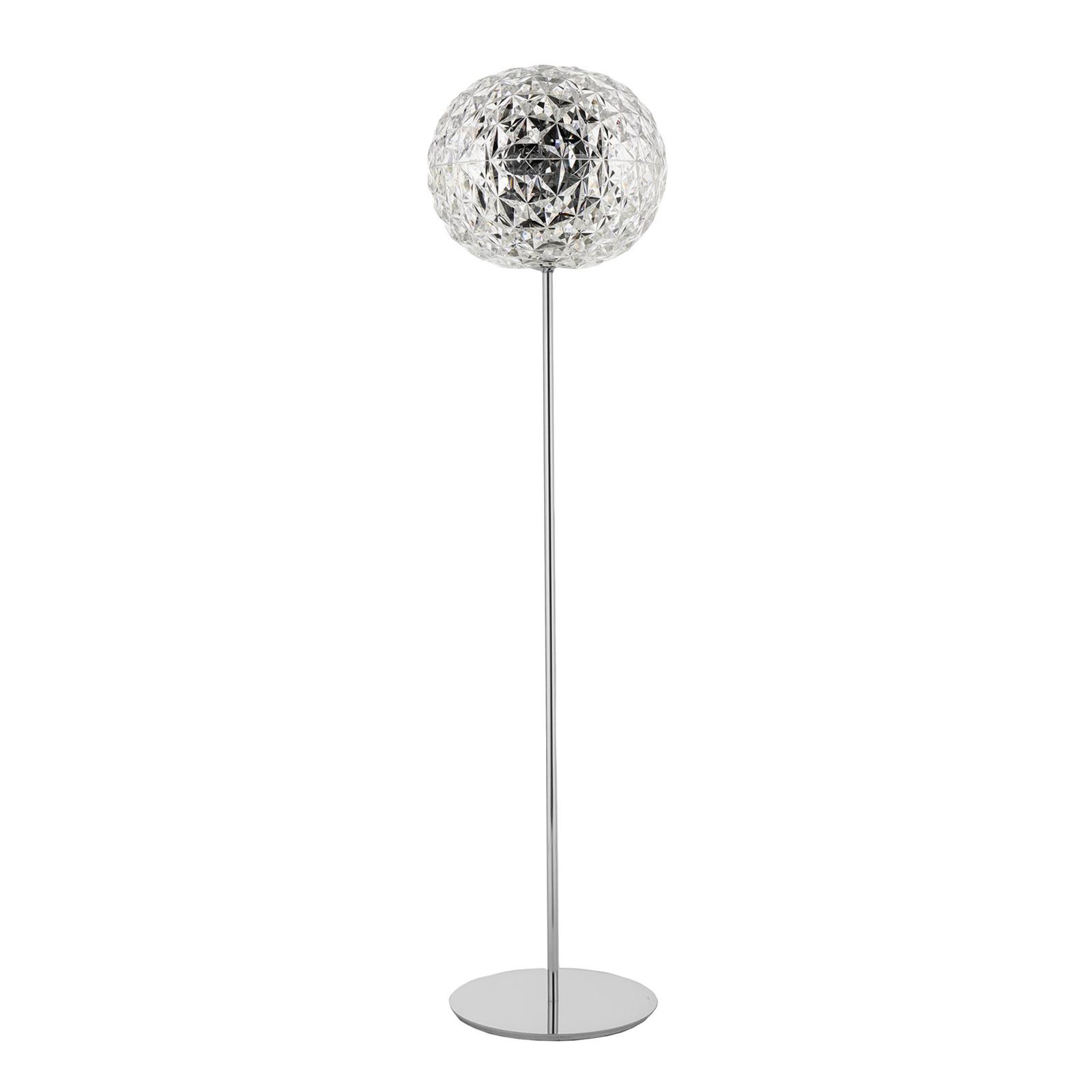 Kartell Planet LED-Stehleuchte 130cm kristallklar